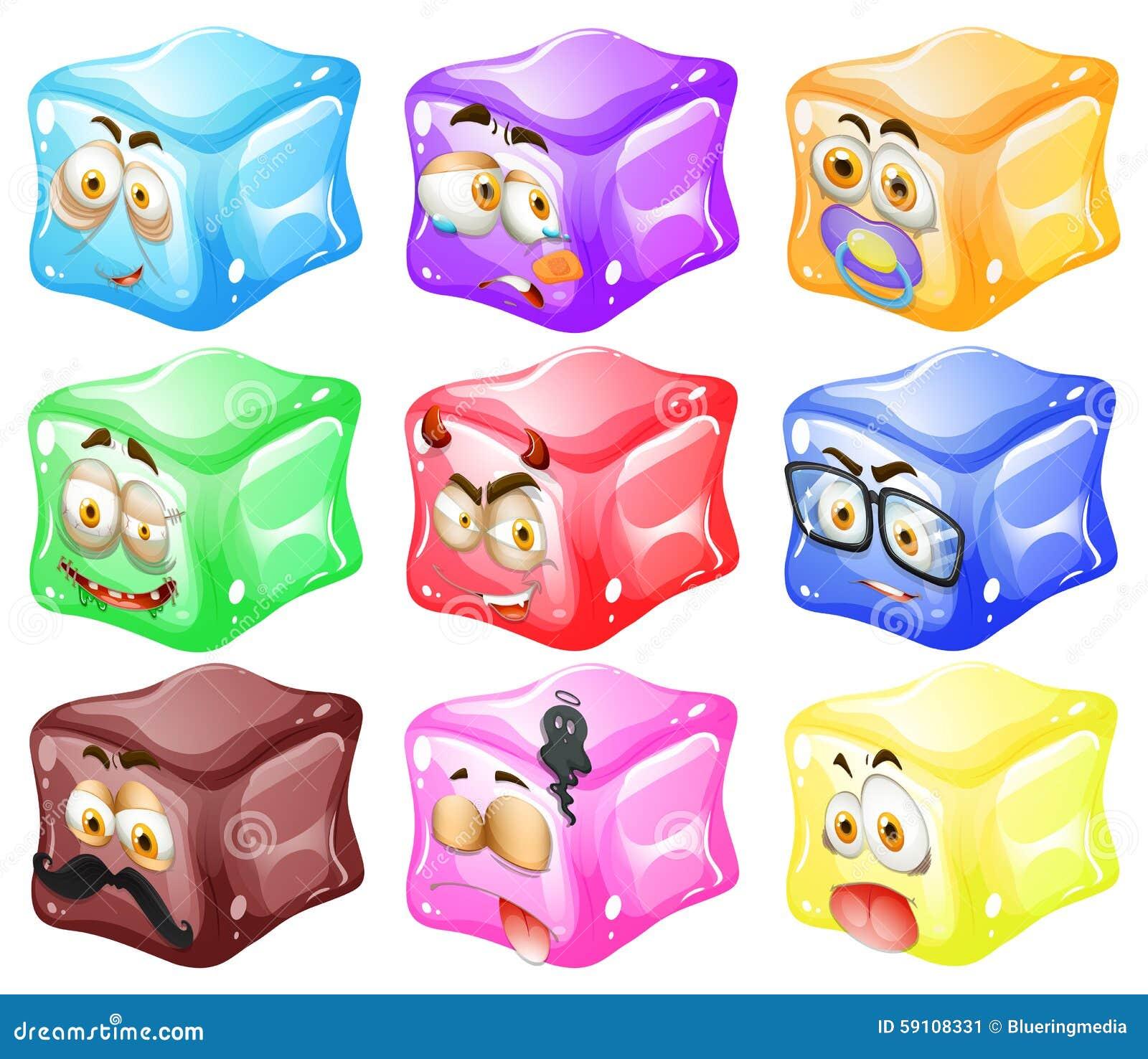 与表情的立方体