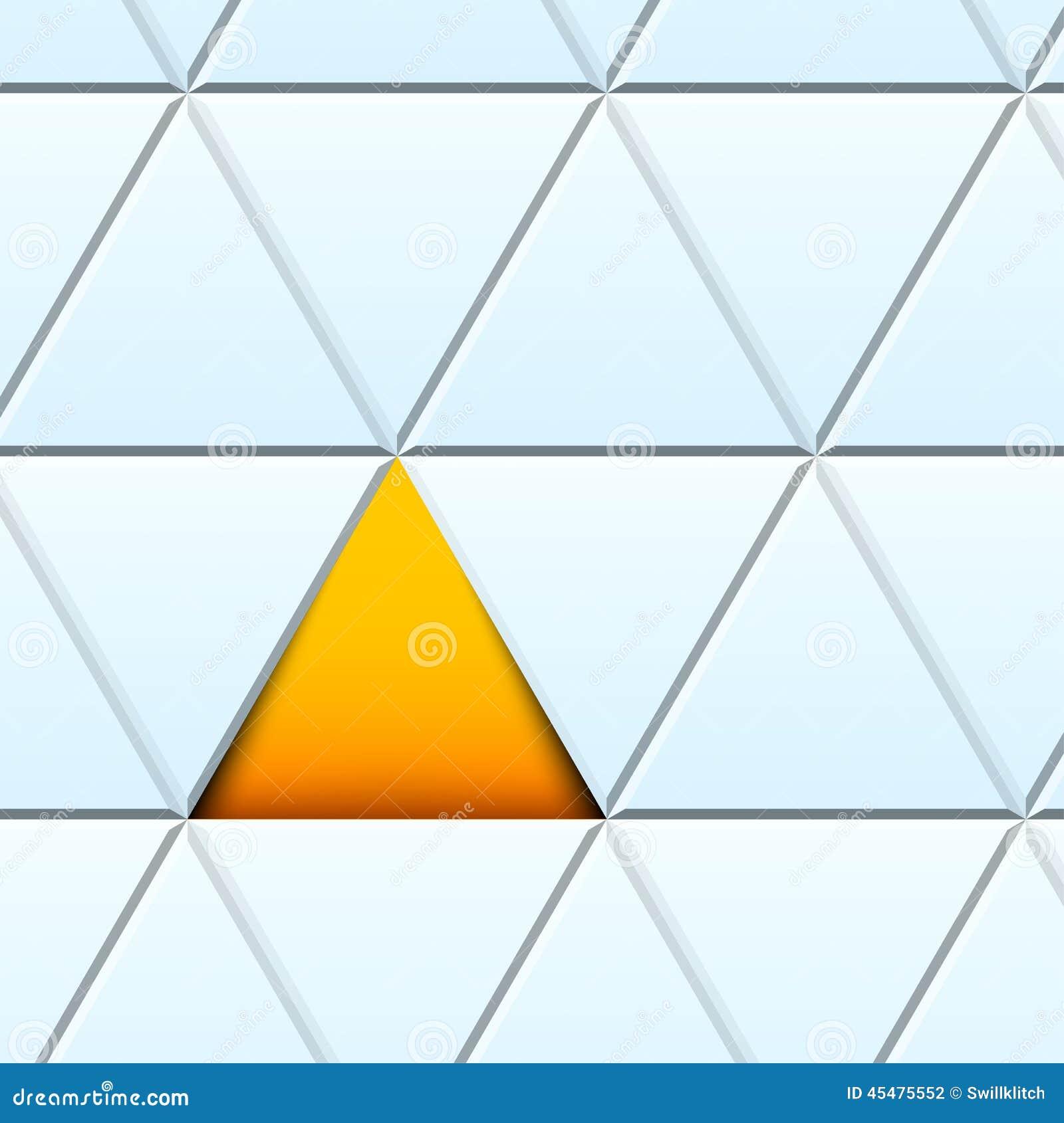 与被削减的纸三角的抽象样式