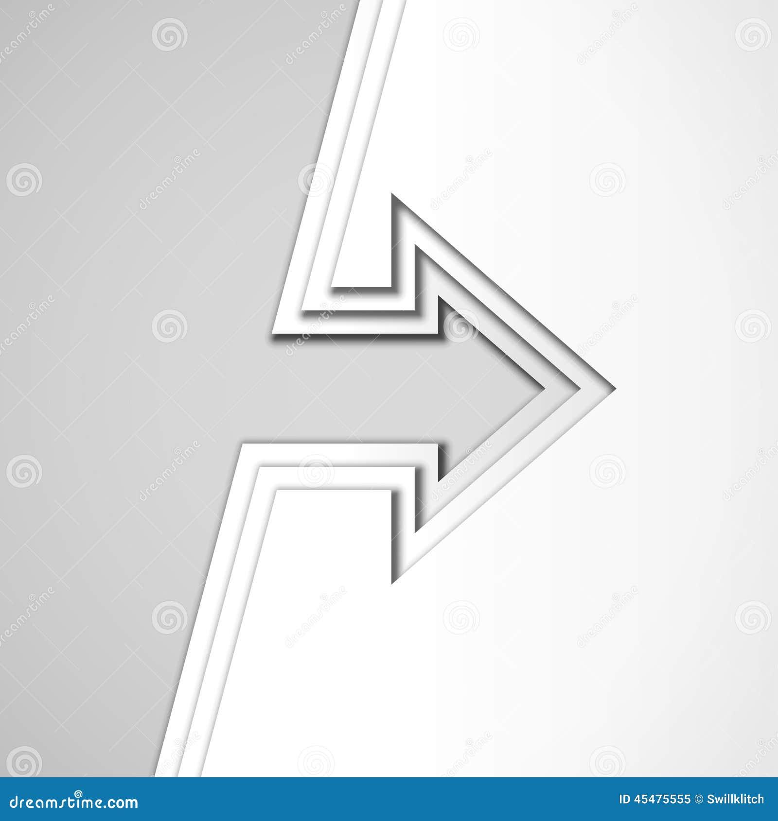 与被削减的纸层数的白色箭头