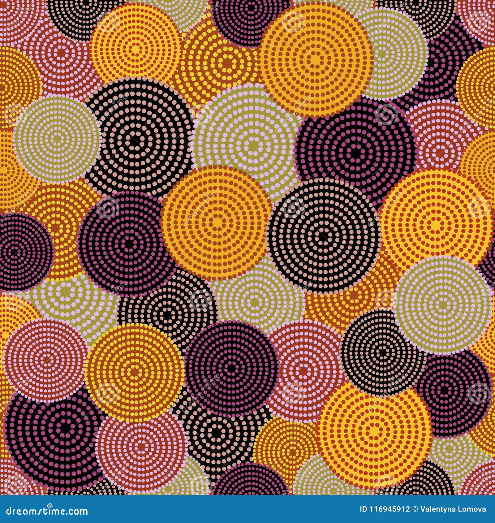 与被加点的圈子的澳大利亚原史无缝的传染媒介样式