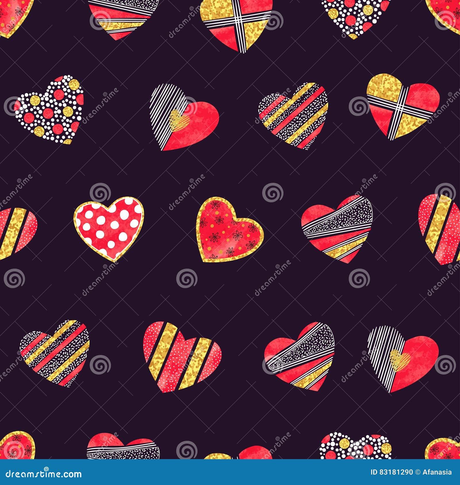 与被仿造的心脏的情人节背景