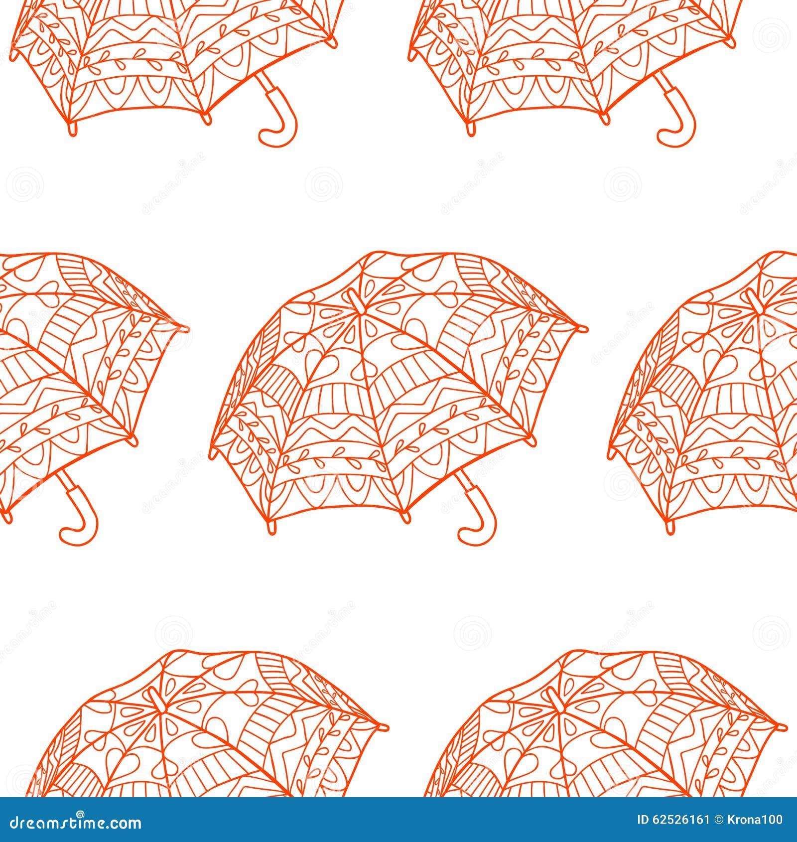 与装饰伞的无缝的样式