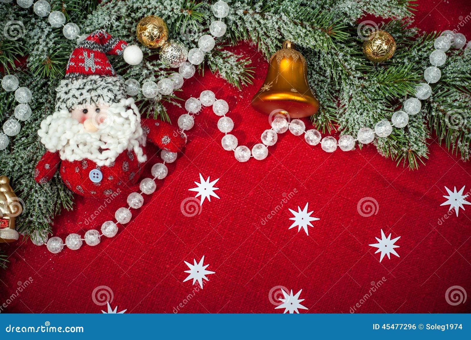 与装饰和玩具的圣诞节背景