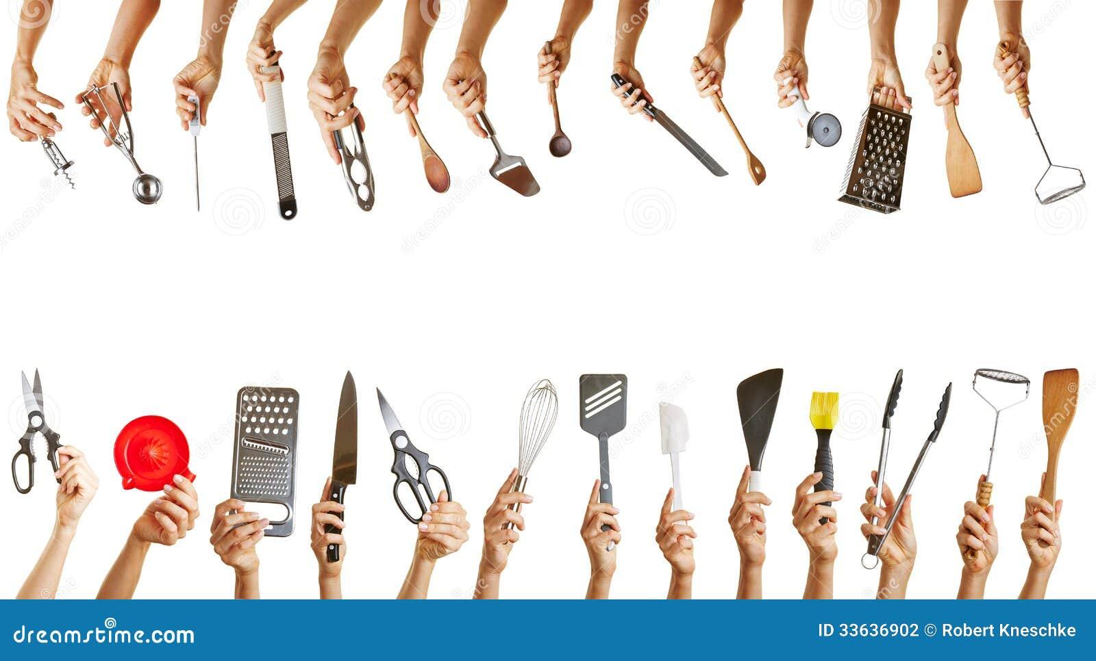 与许多厨房工具的框架