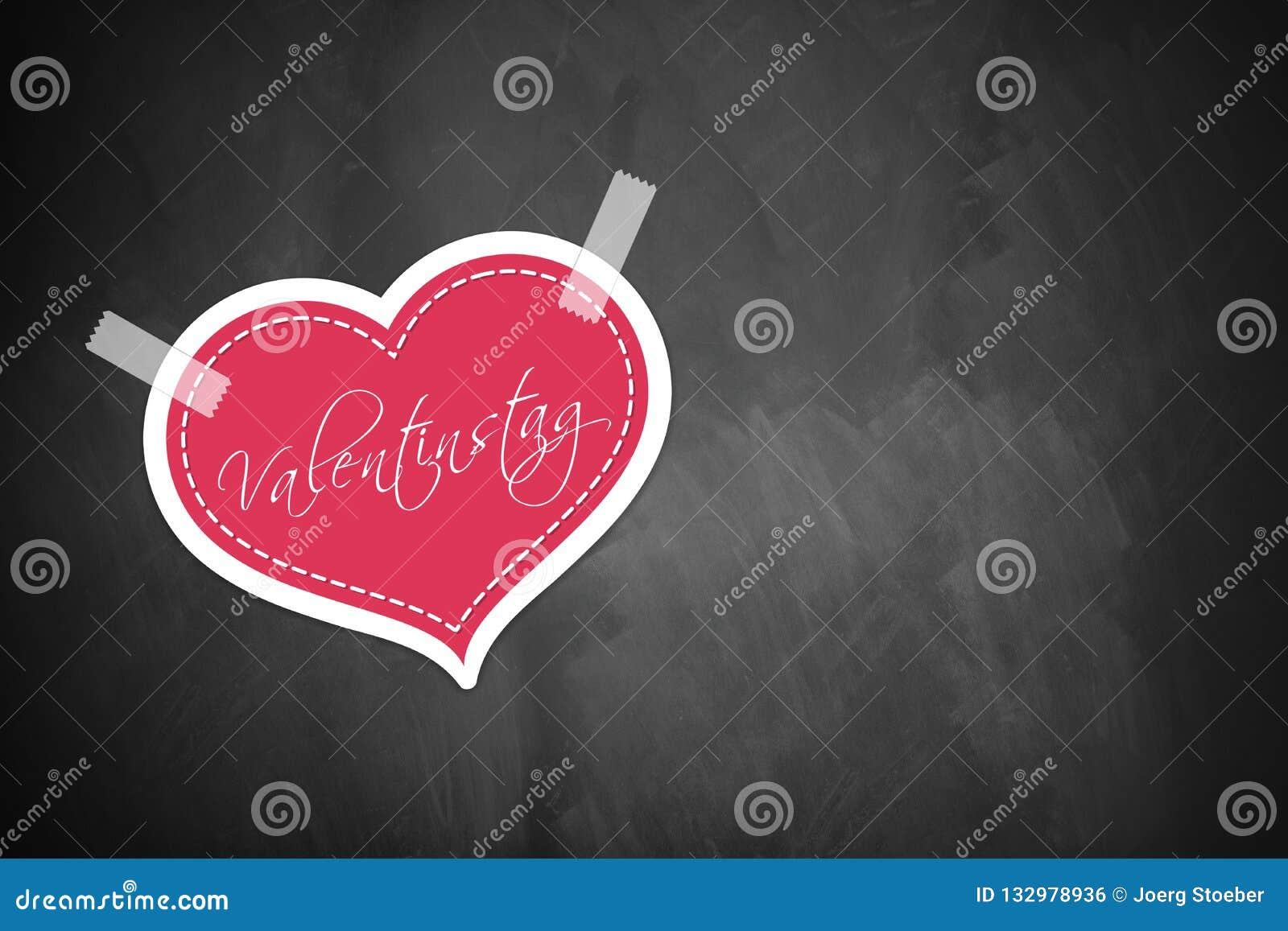 与词'情人节的'心脏用德语