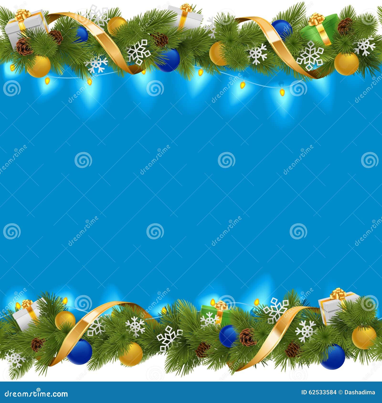 与诗歌选的传染媒介蓝色圣诞节边界