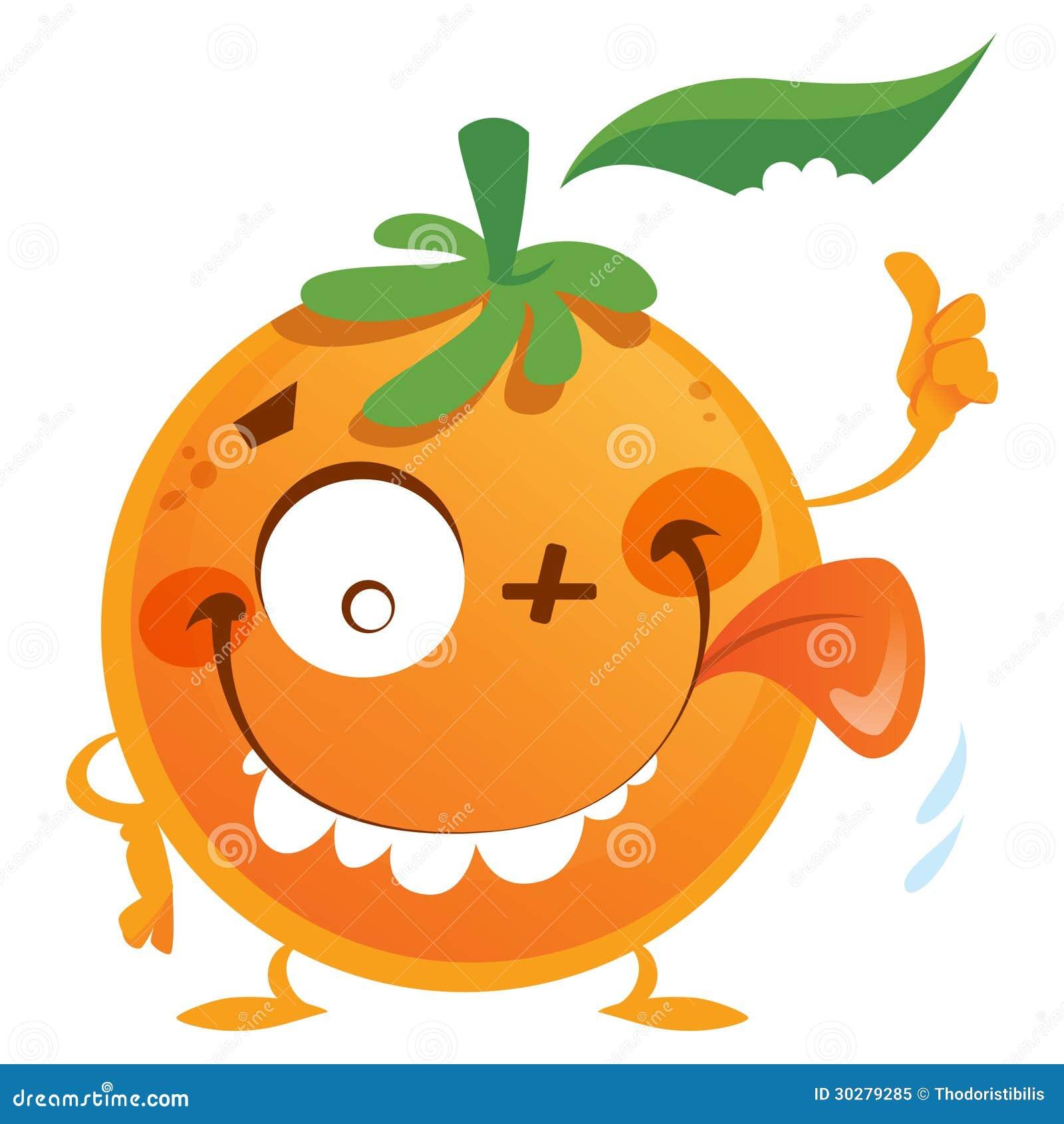 疯狂的橙色字符