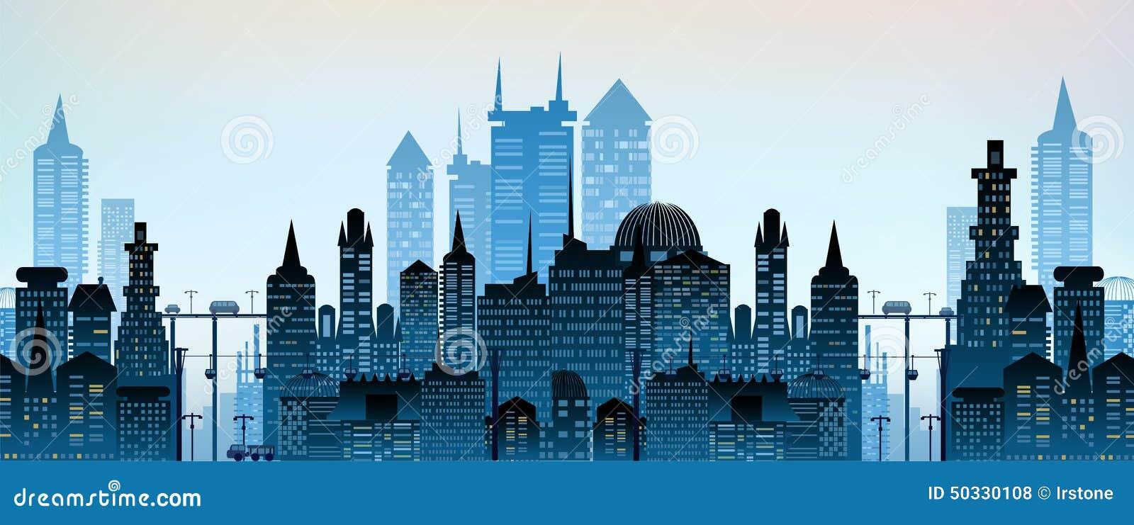 大城市的现代摩天大楼.