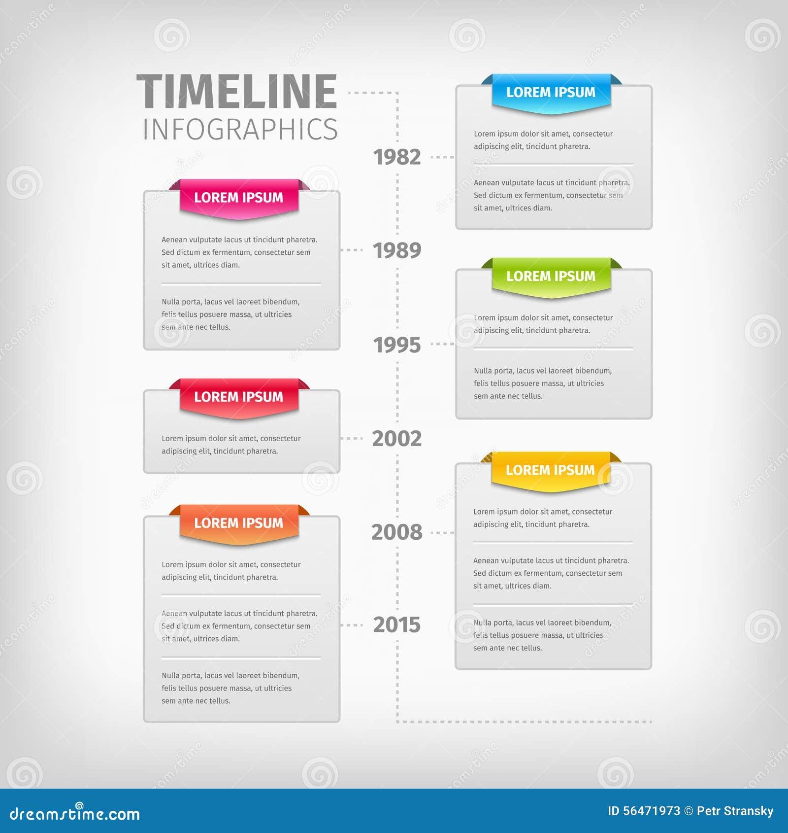 与软的灰色箱子的时间安排Infographics和