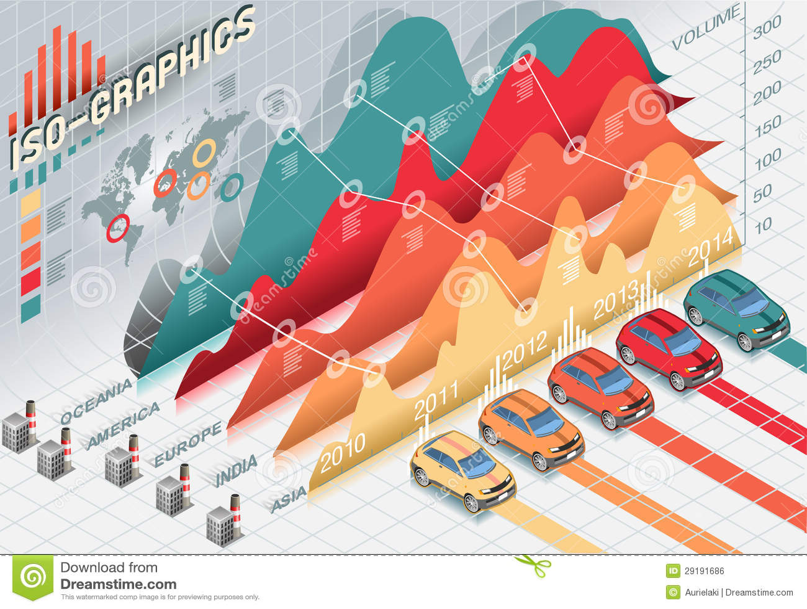 与透明度的等量Infographic集合要素