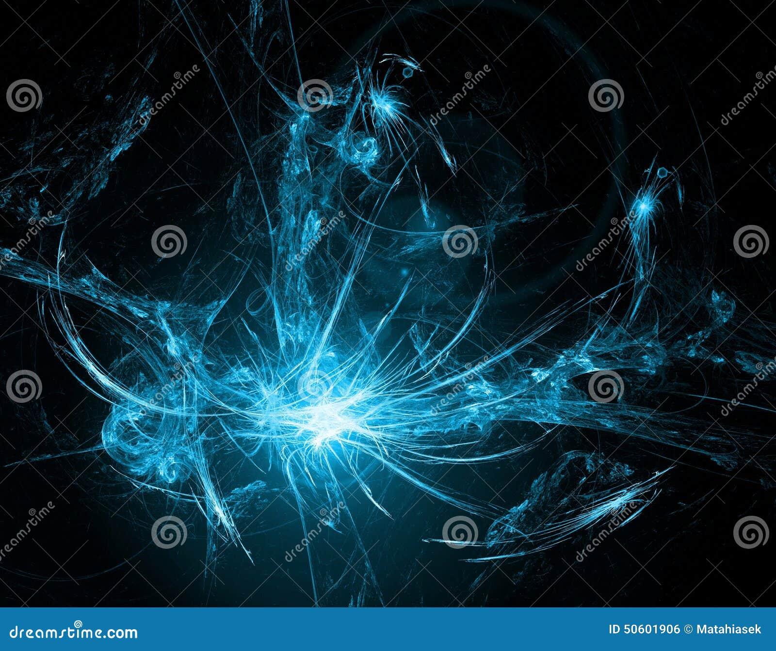 与透镜火光作用的抽象发光的背景