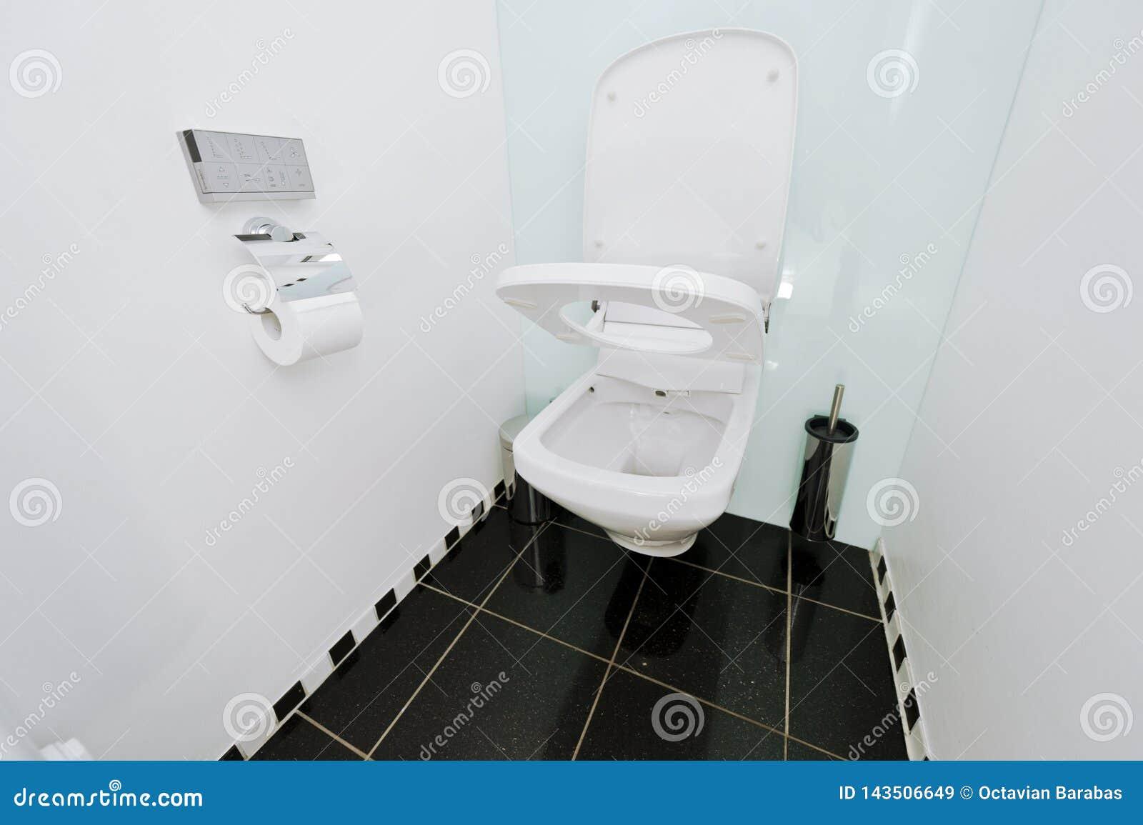 与遥控的自动洗手间wc