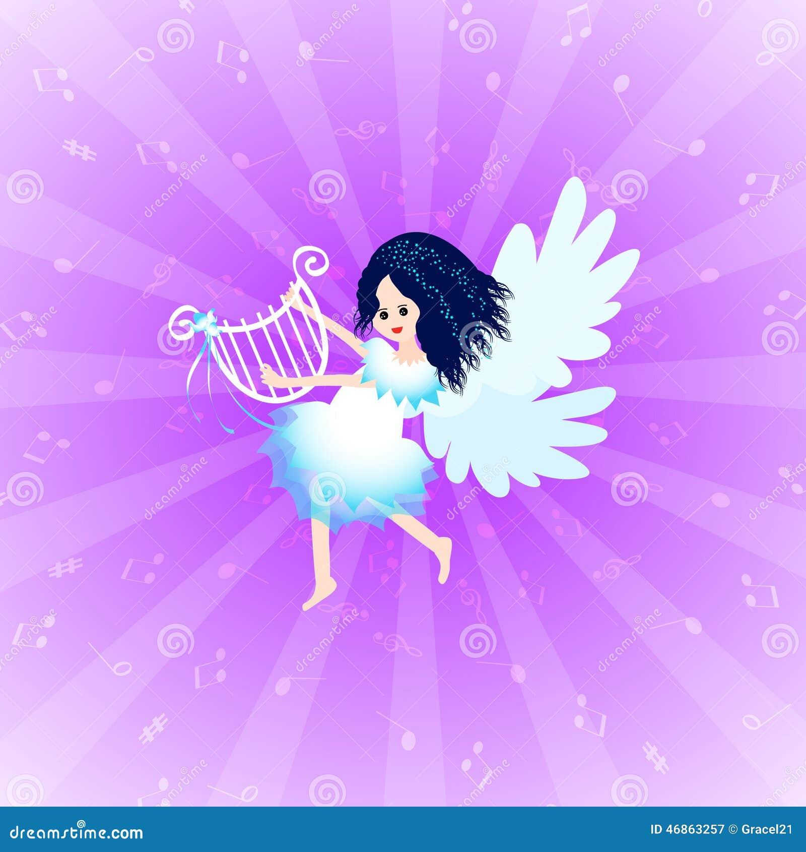 与里拉琴的天使图片