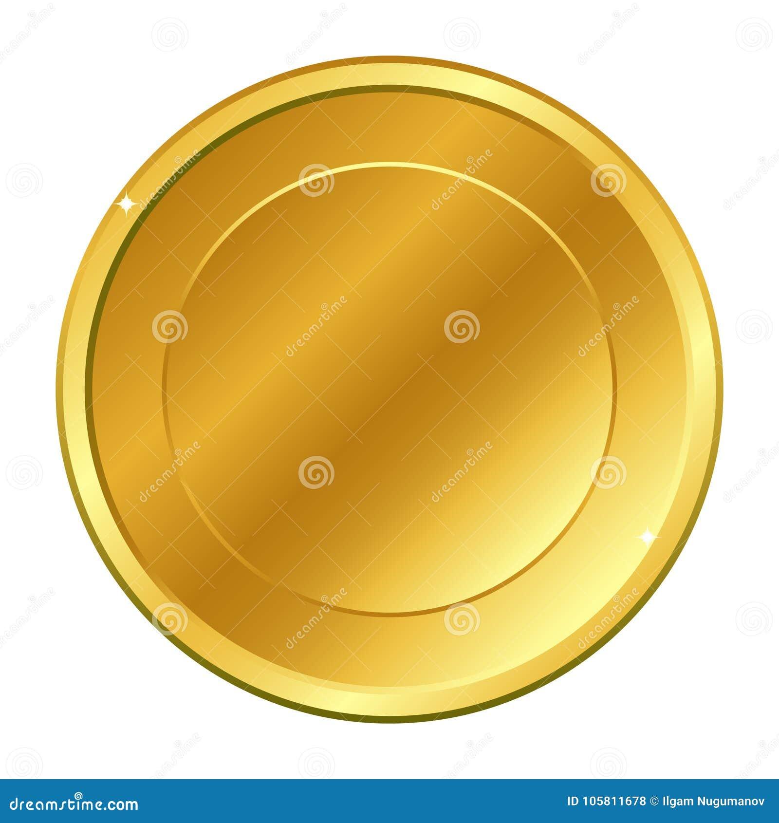 与里面圈子的金币 在空白背景查出的向量例证