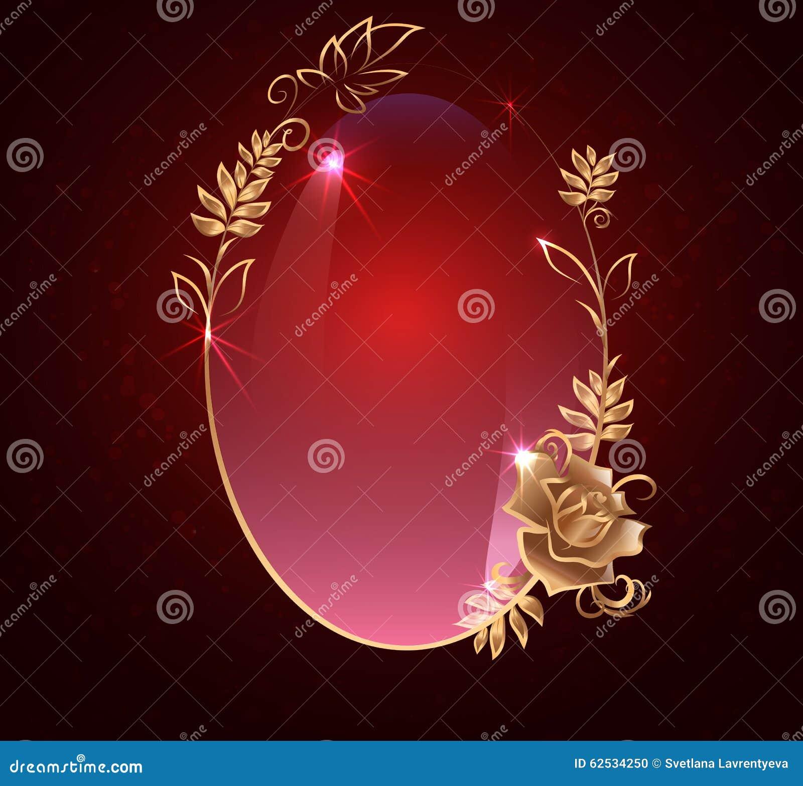 与金子的卵形横幅 罗斯,在黑暗的背景的光滑的标签,