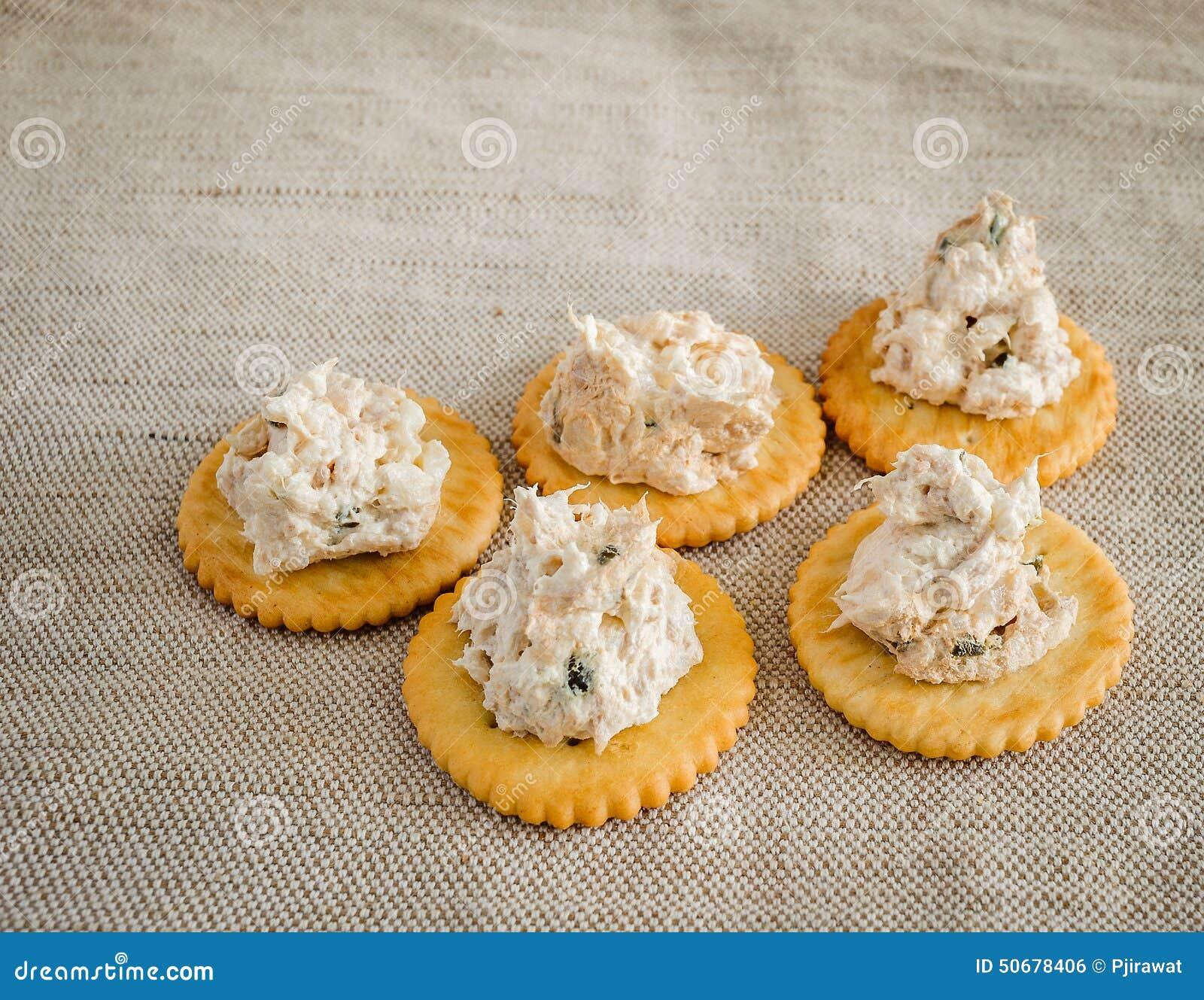 Download 与金枪鱼传播的薄脆饼干 库存照片. 图片 包括有 营养, 鲜美, 片式, 牌照, 生气勃勃, 美食, 被扭伤的 - 50678406
