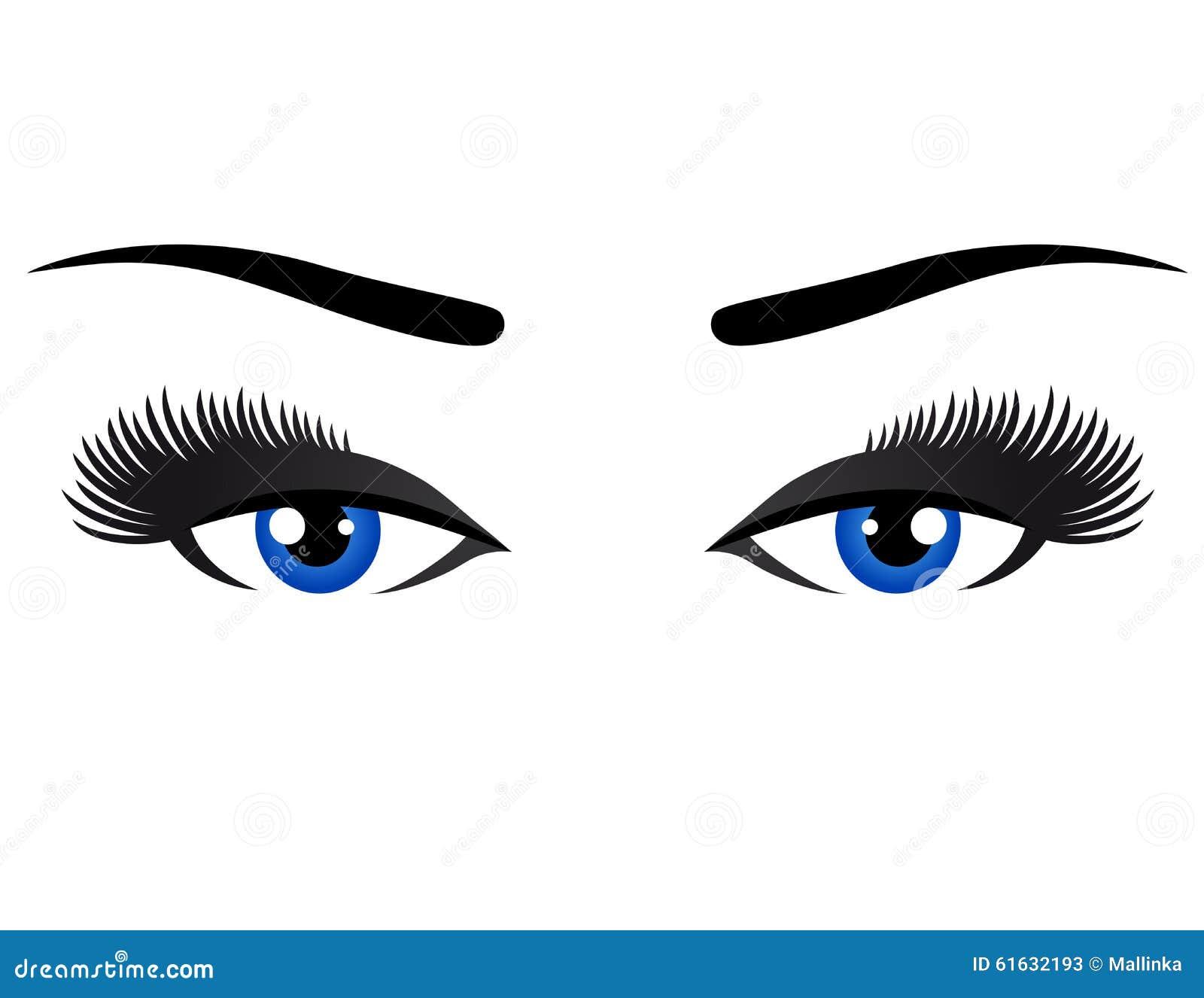 与长的睫毛的蓝眼睛