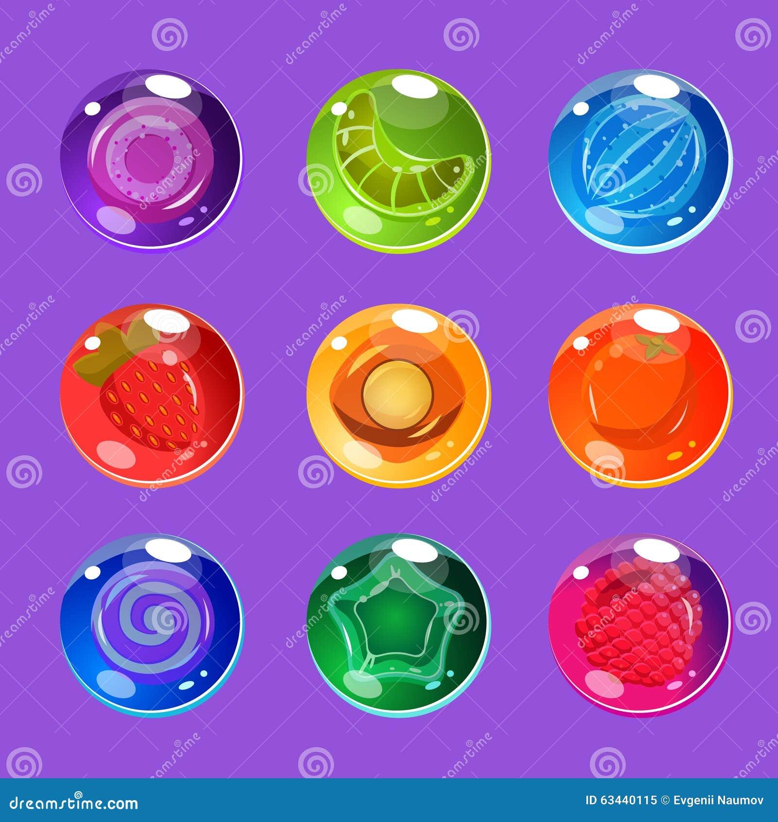 与闪闪发光的明亮的五颜六色的光滑的糖果为
