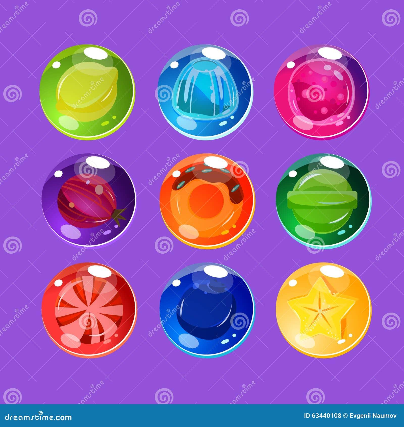 与闪闪发光的明亮的五颜六色的光滑的糖果