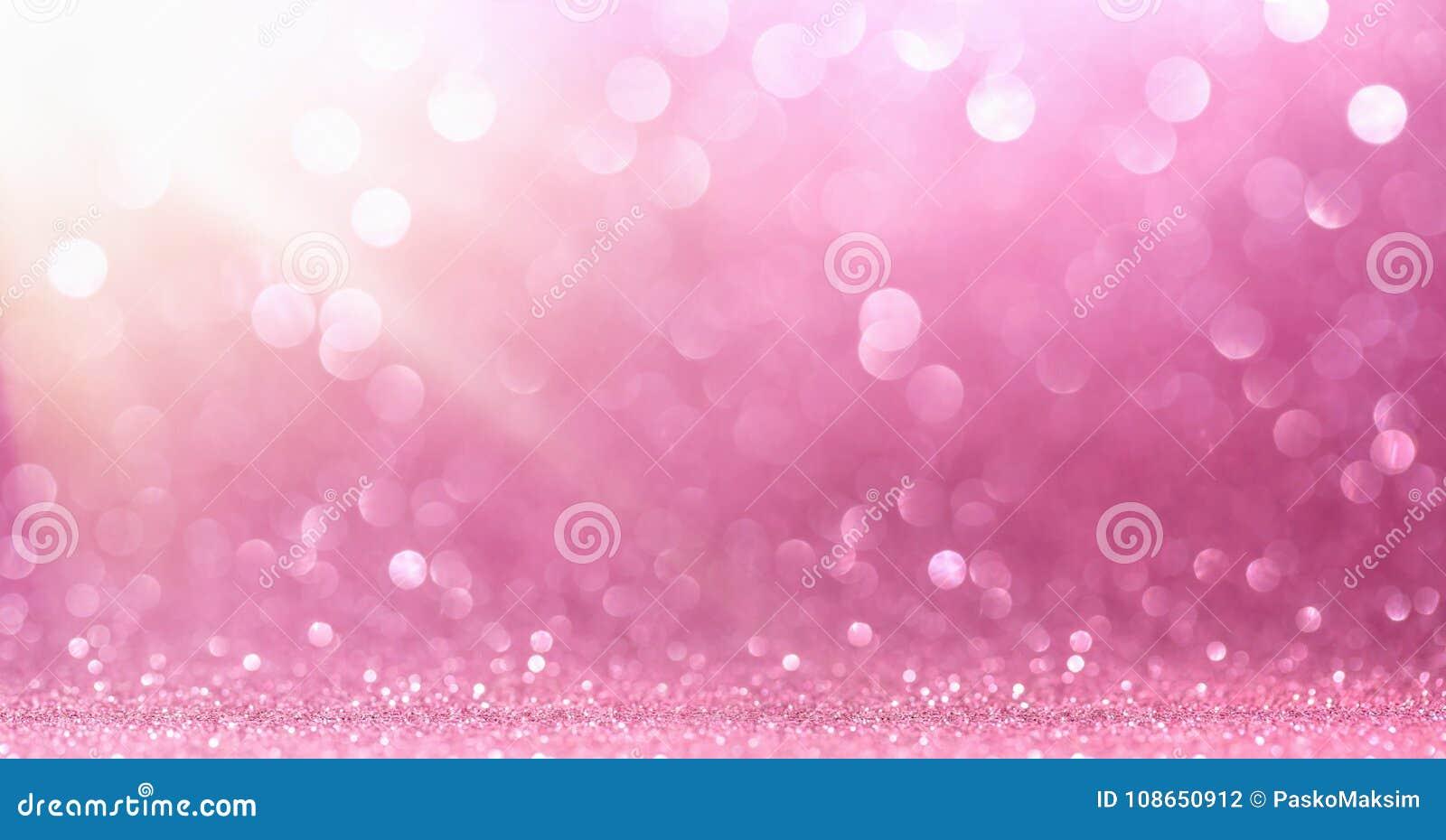 与闪闪发光的桃红色闪烁