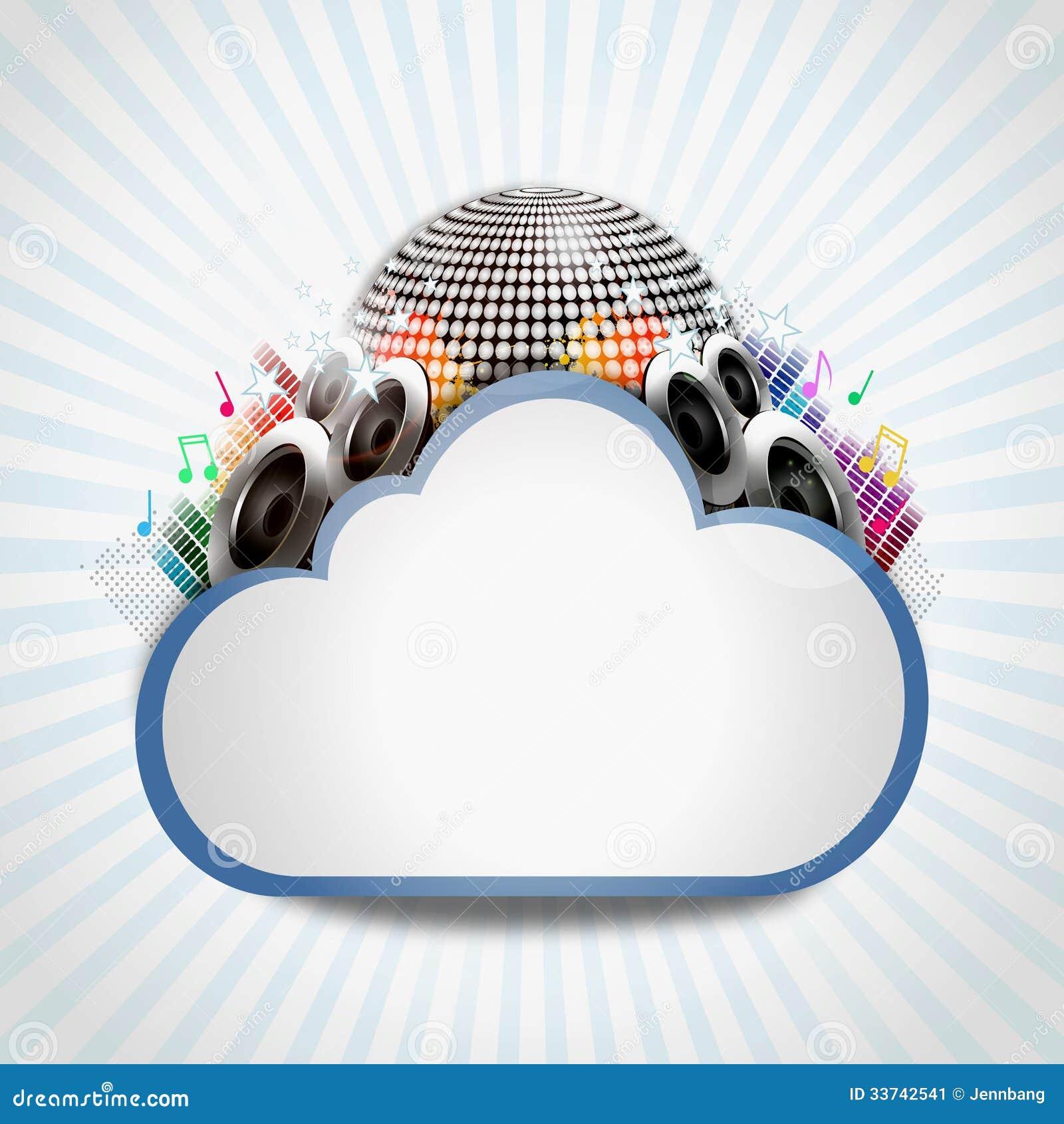 与音乐分享的互联网云彩