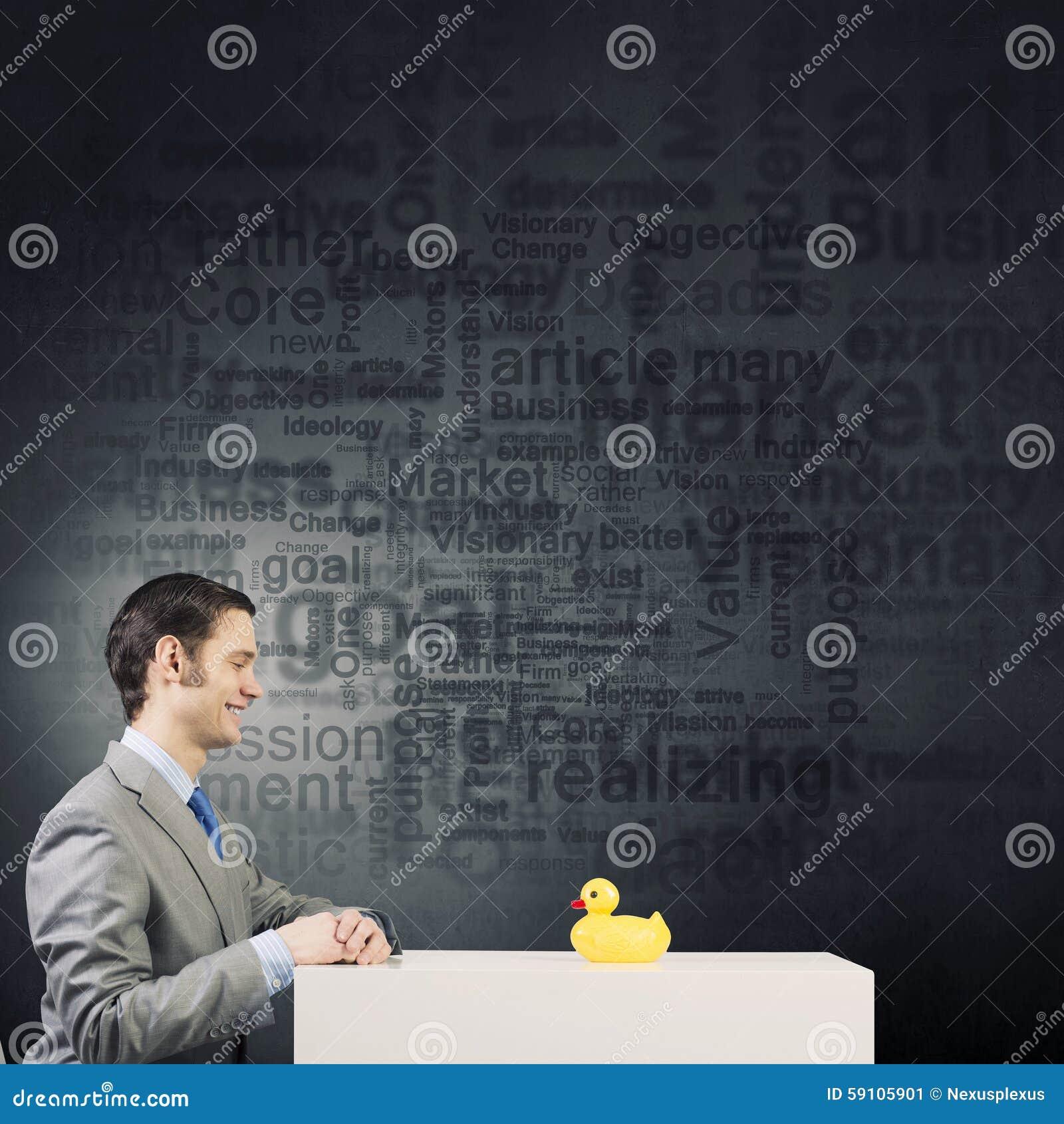 与鸭子的商人