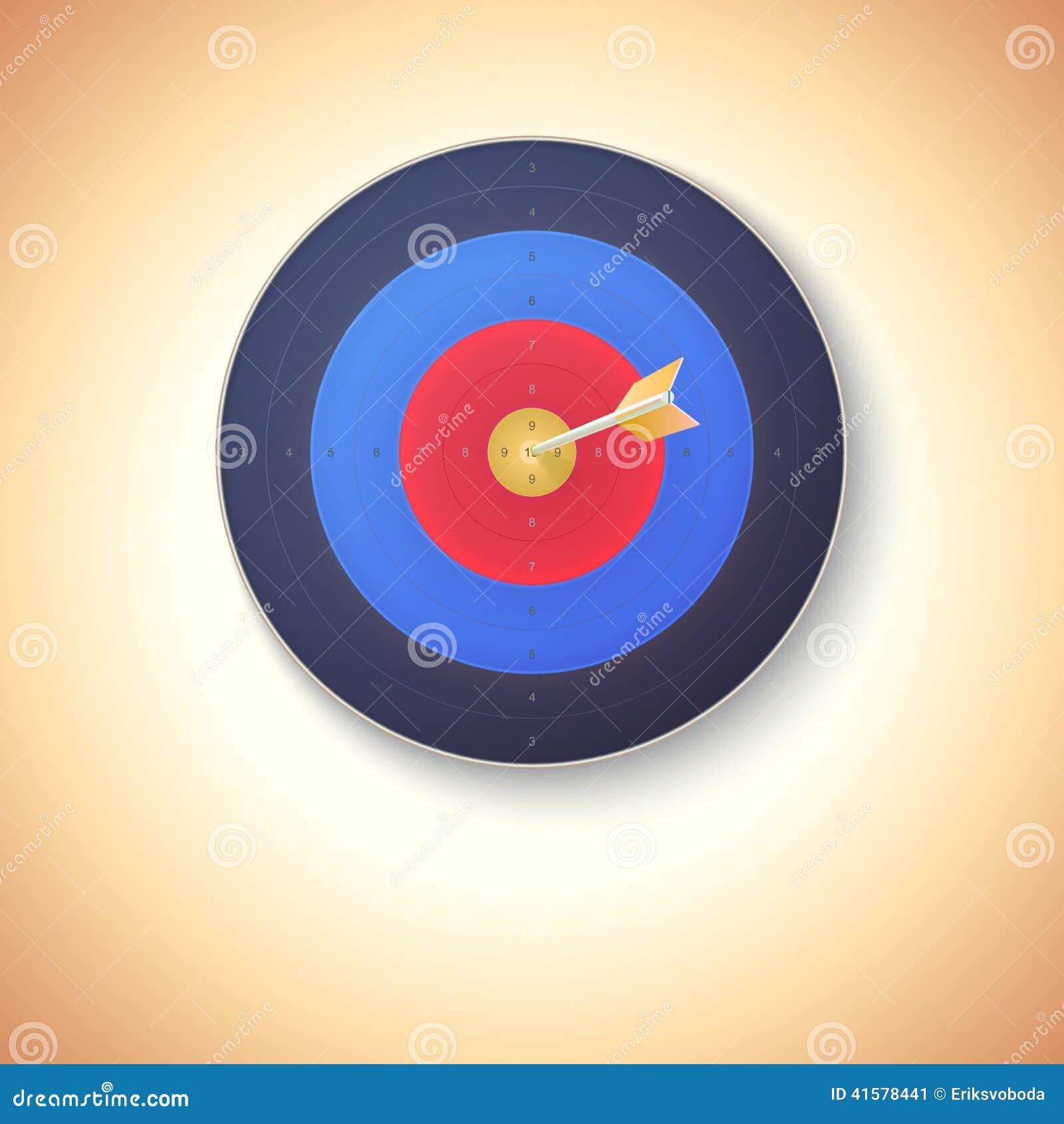 中�yn�h�.{+�N�n_与击中在中心的箭头的目标
