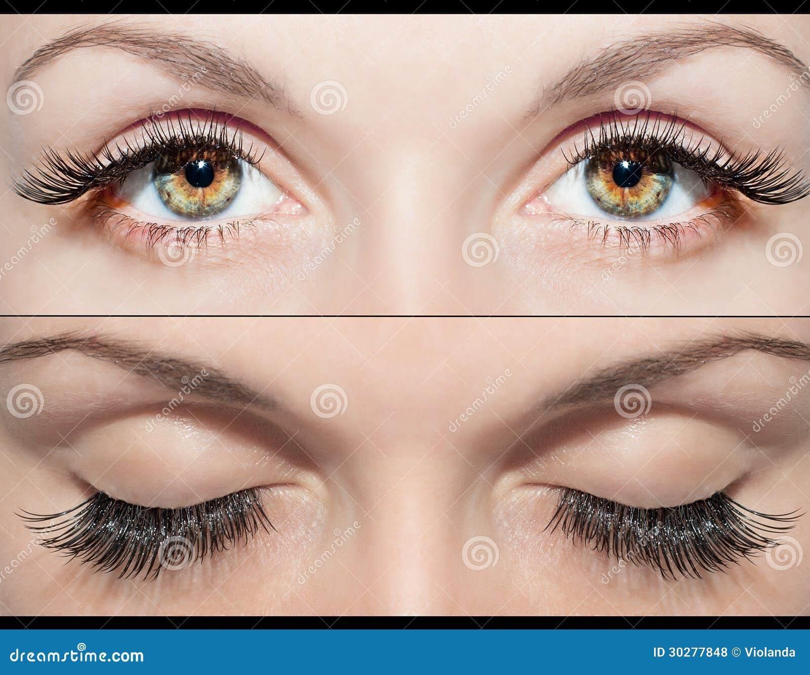 眼睛和假睫毛