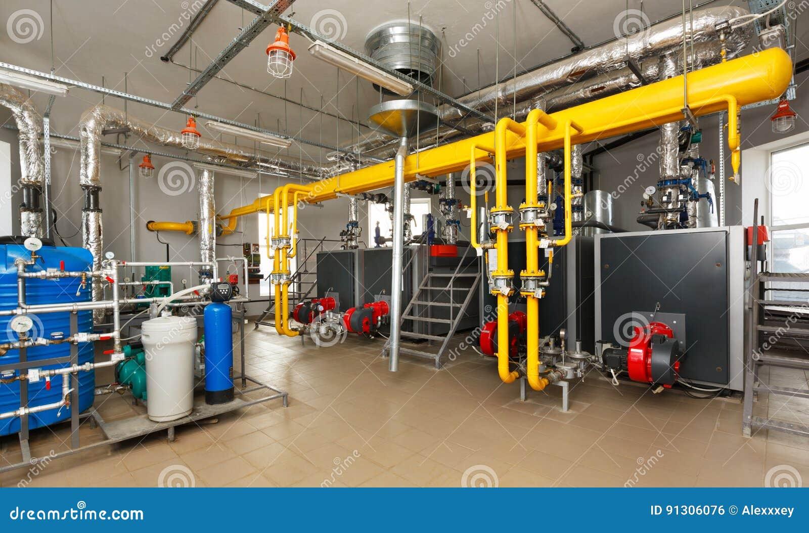 与水处理系统,很多煮沸的内部燃气锅炉