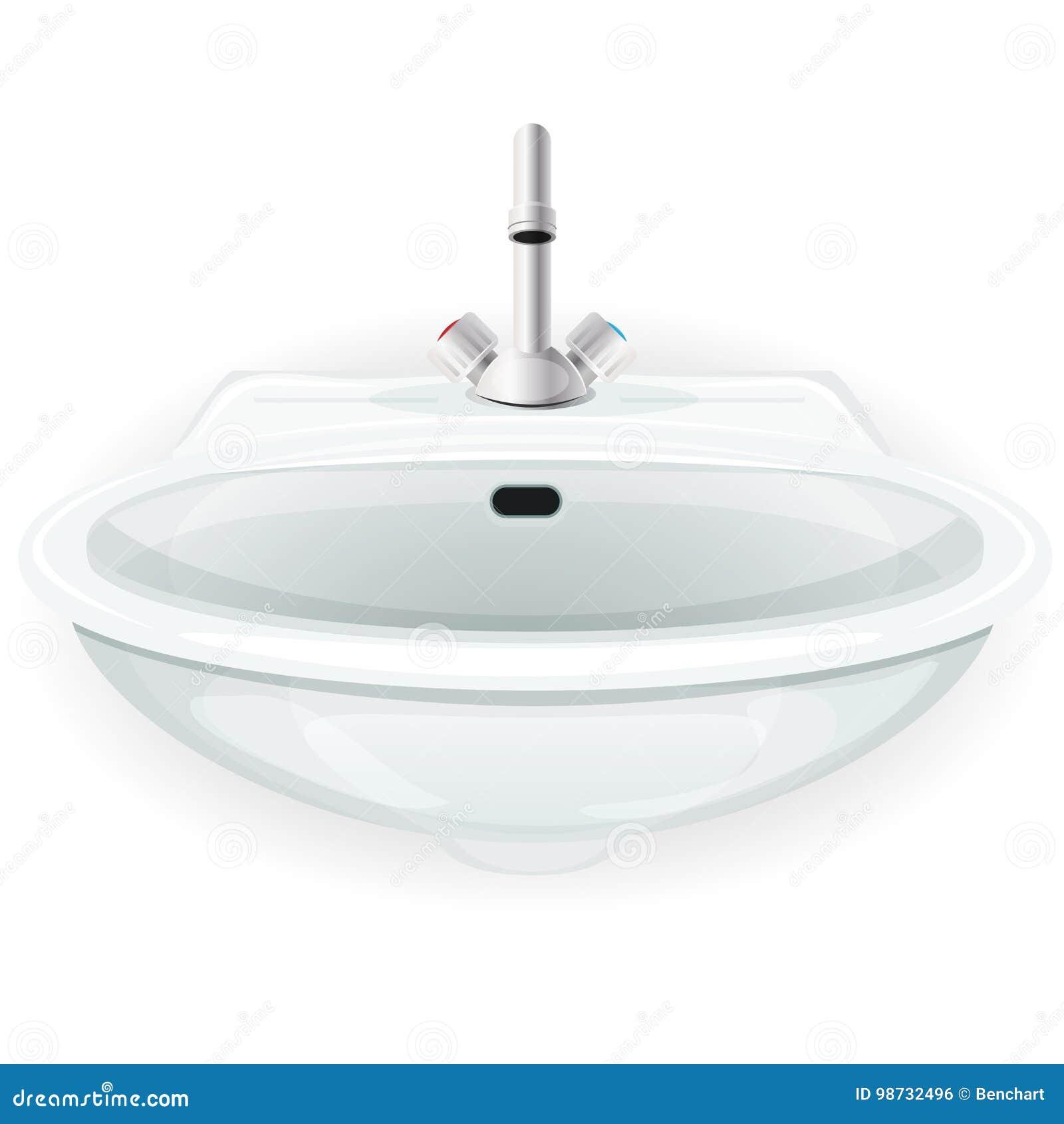 与轻拍的卫生间水槽