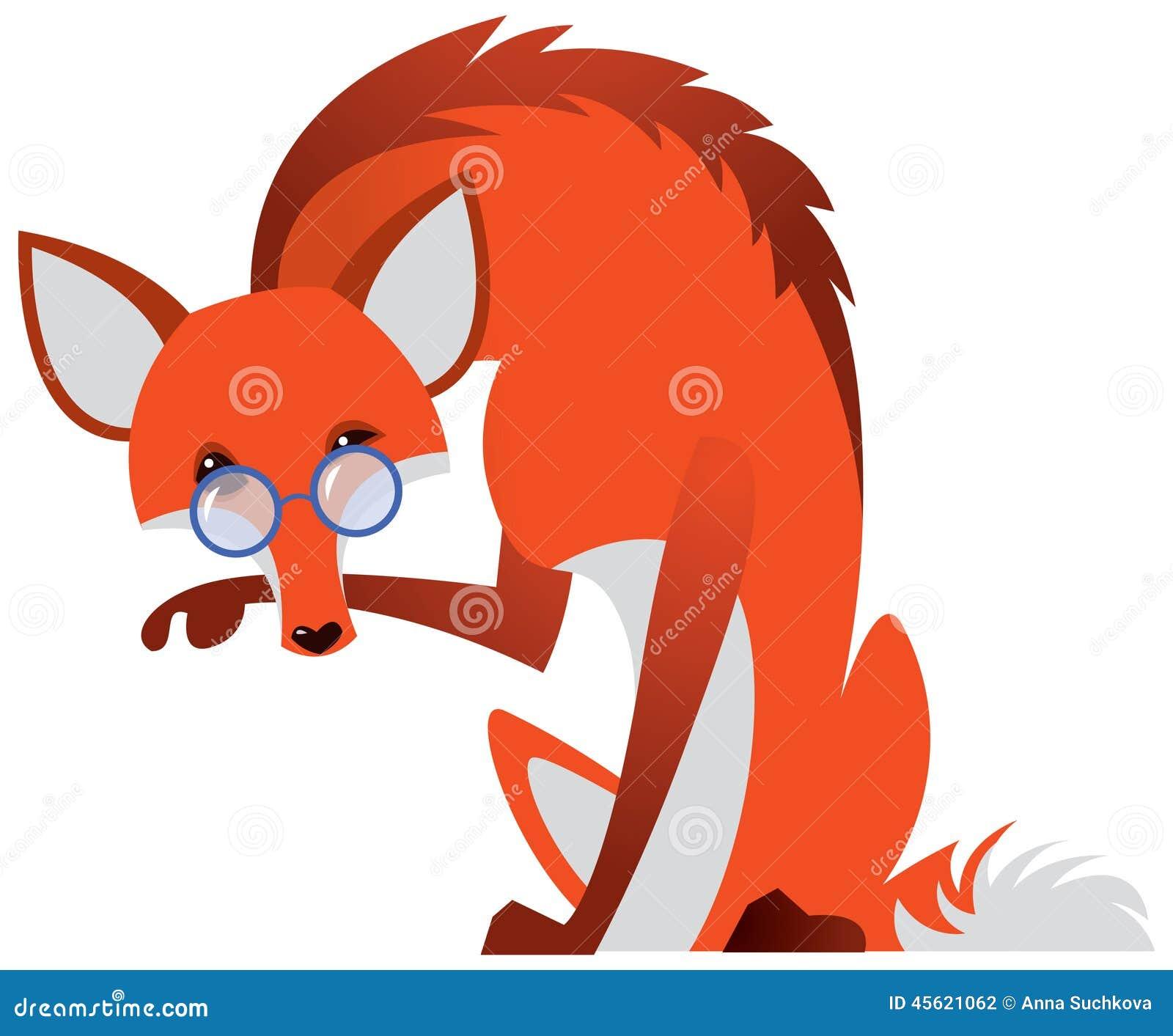 与玻璃的动画片狐狸