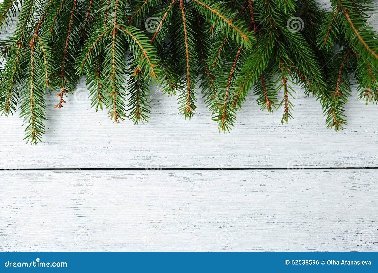 与绿色分支的圣诞节横幅