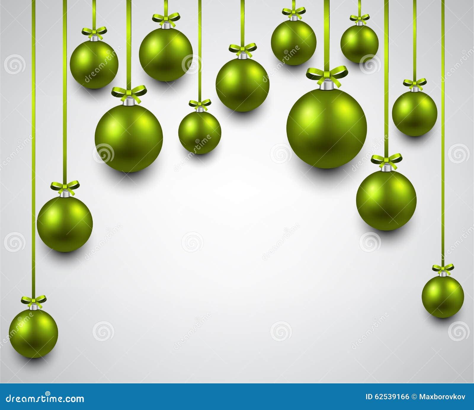 与绿色圣诞节球的弧背景
