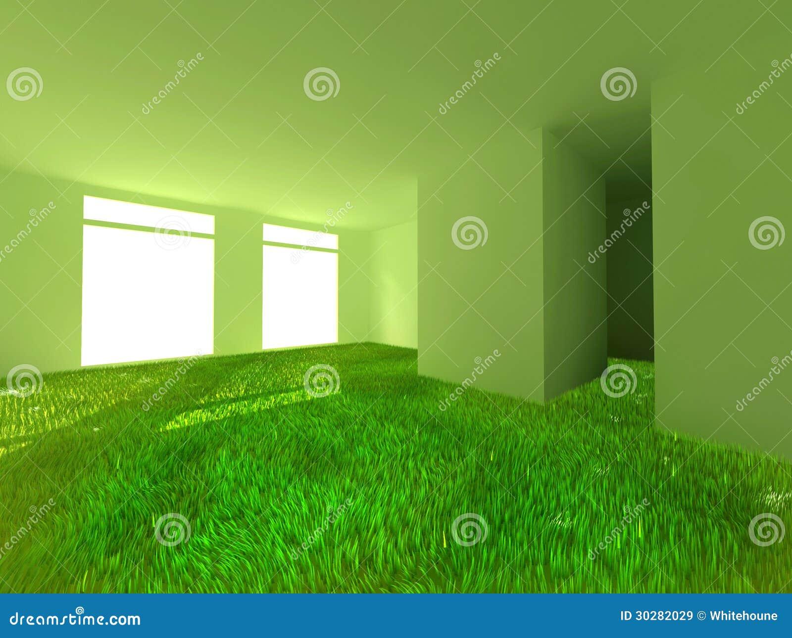 草在屋子里