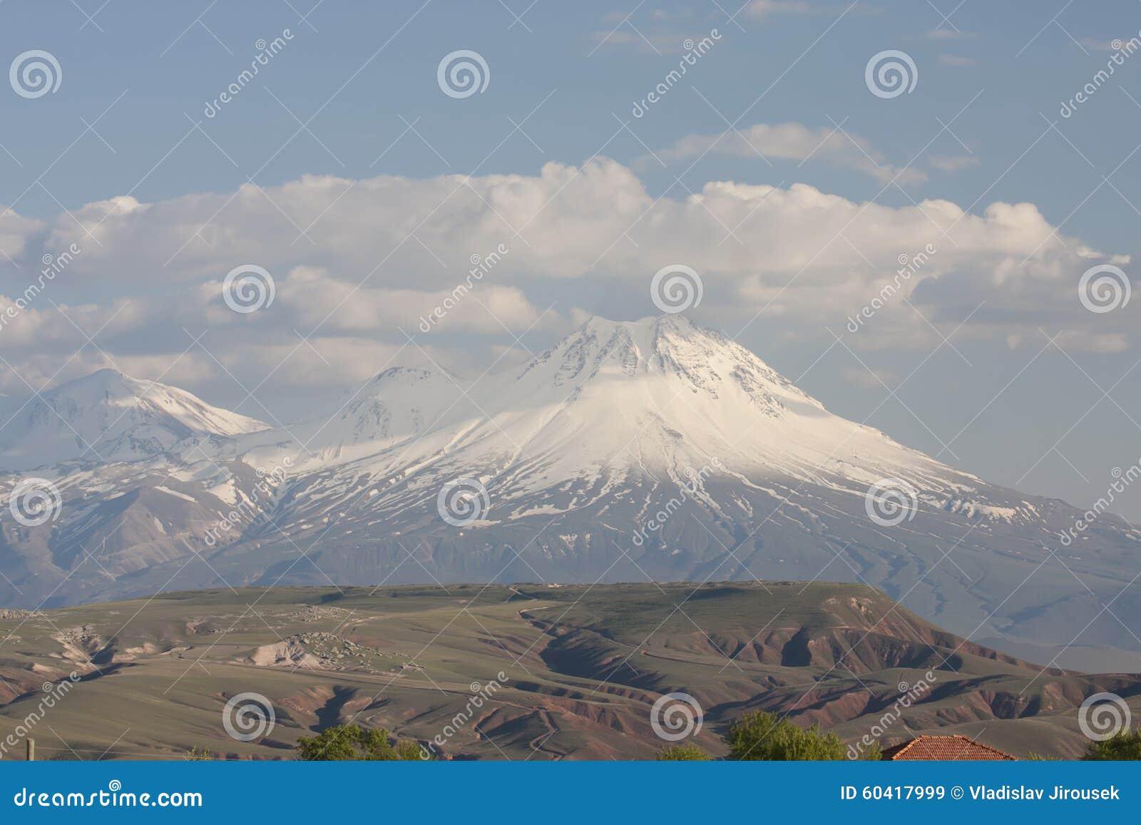 与couds,中央土耳其的好的多雪的山