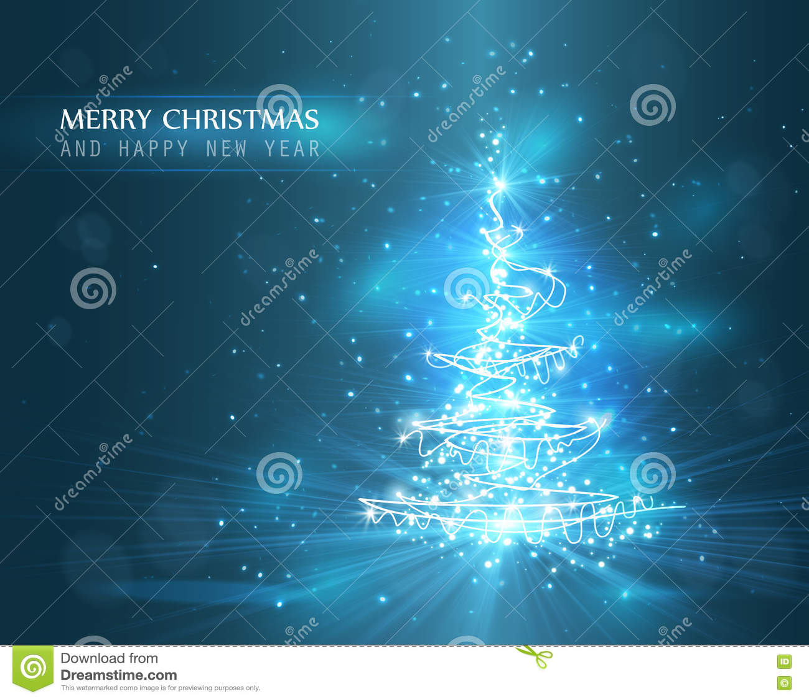 与defocused光的圣诞树 背景看板卡祝贺邀请