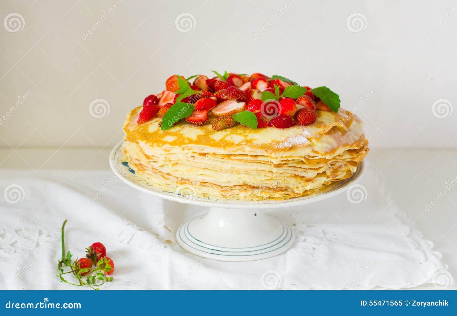 与srawberry的俄式薄煎饼饼