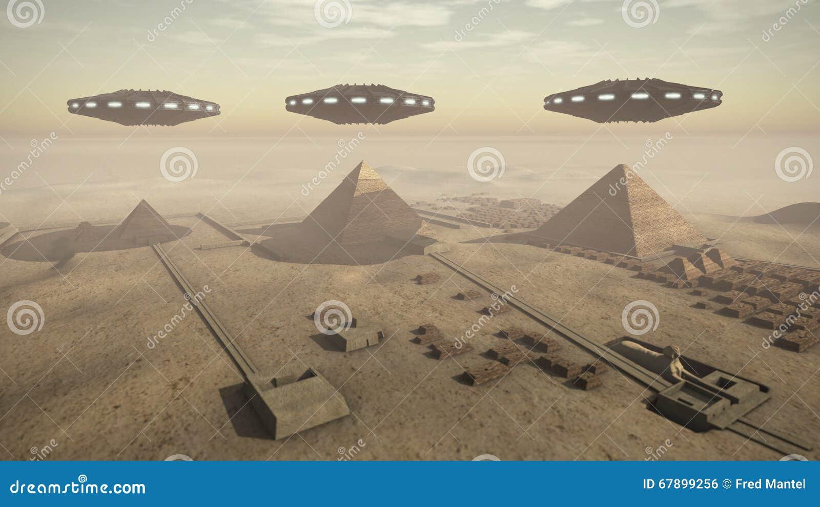 与UFOs的埃及金字塔