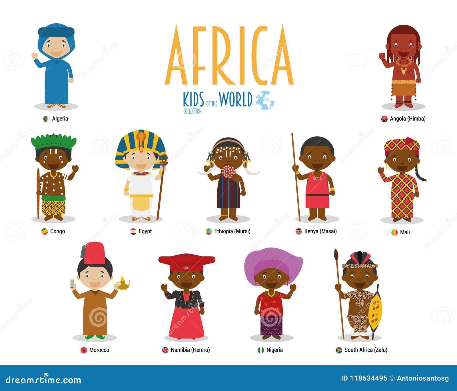 世界传染媒介的孩子和国籍:非洲