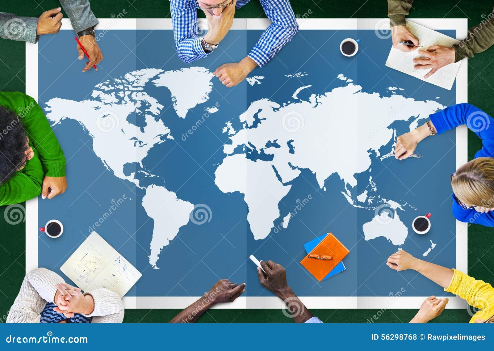 世界全球企业绘图全球化国际Co