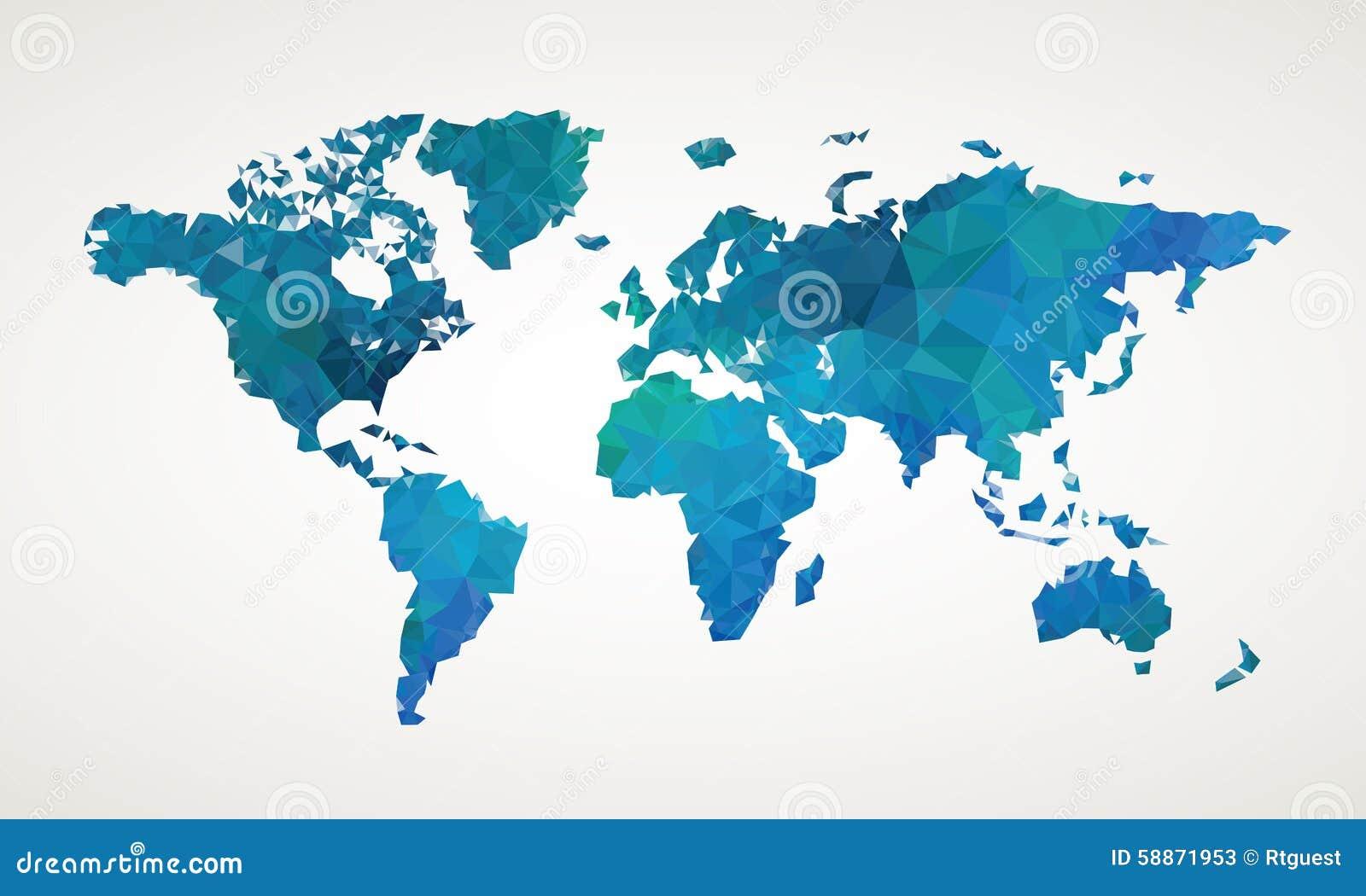 世界地图传染媒介摘要例证
