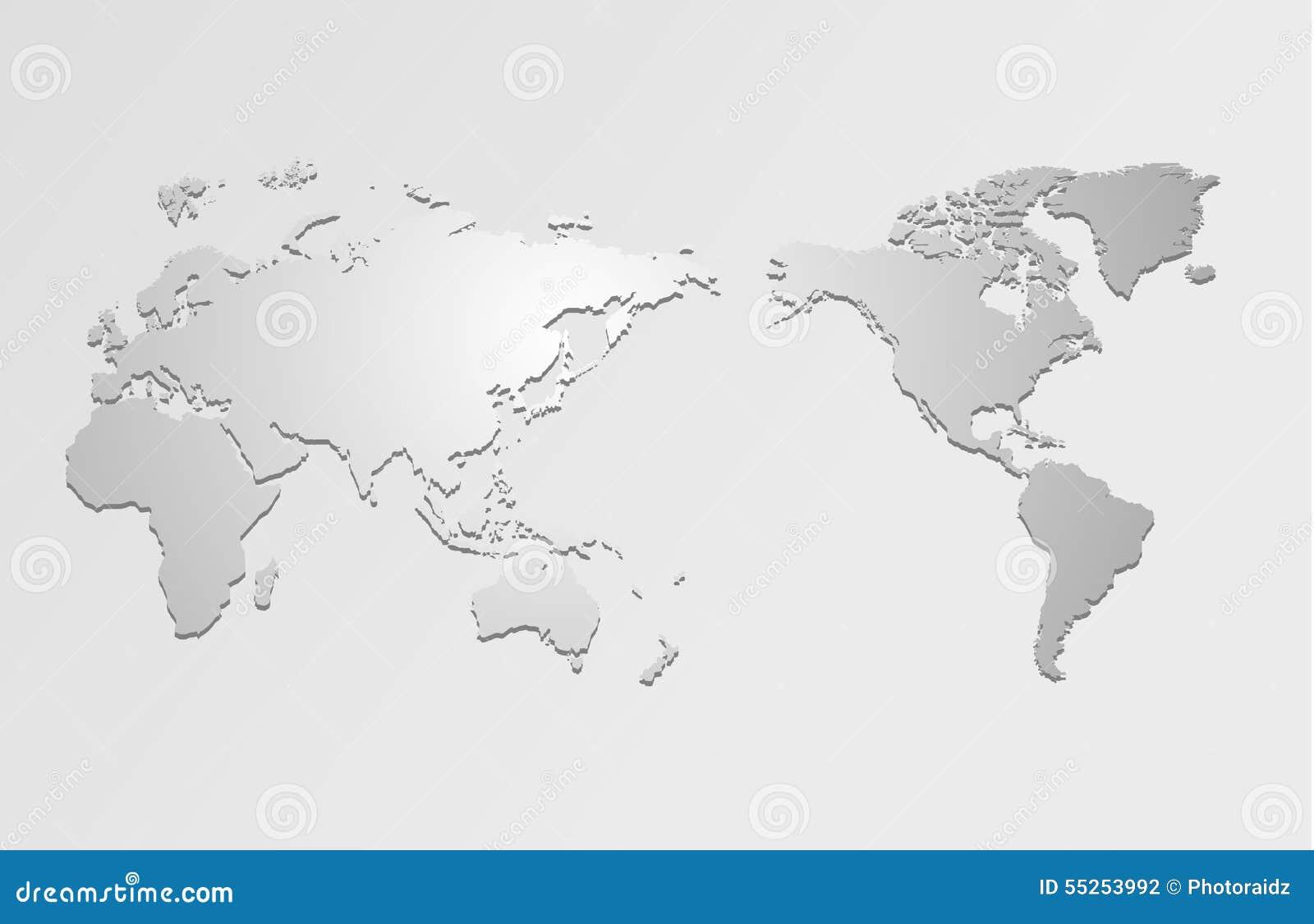 世界地图和指南针,例证.