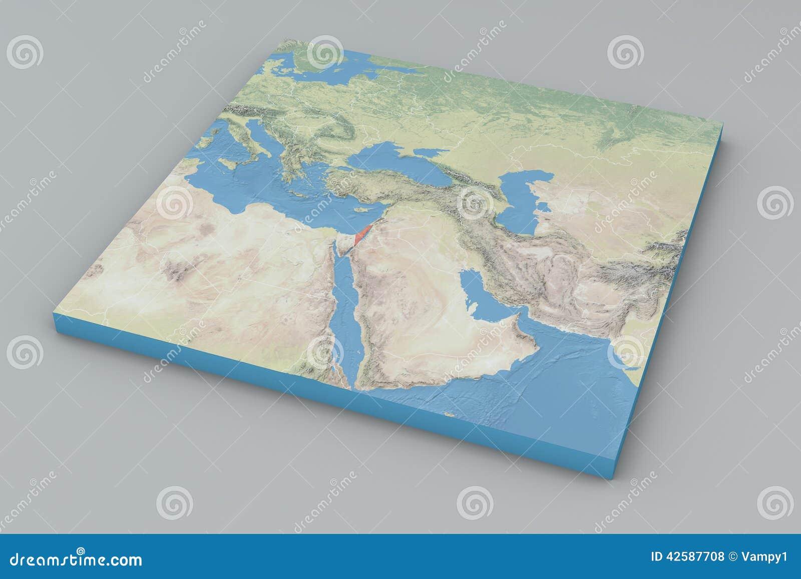 世界地图,以色列