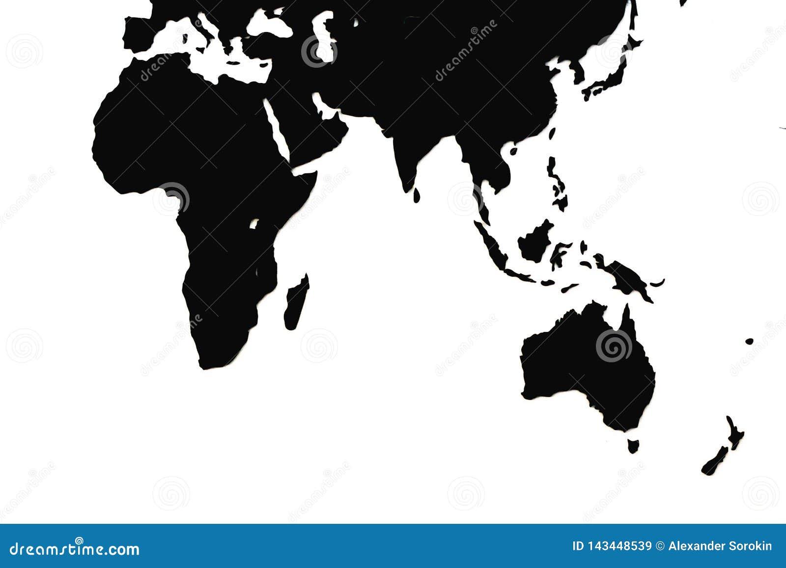 世界的世界地图或地图