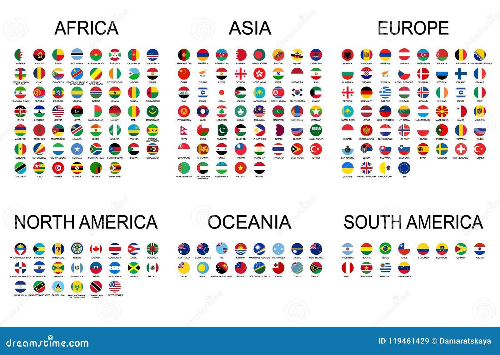 世界的传染媒介集合正式国旗 国家圆形下垂与详细的象征的汇集