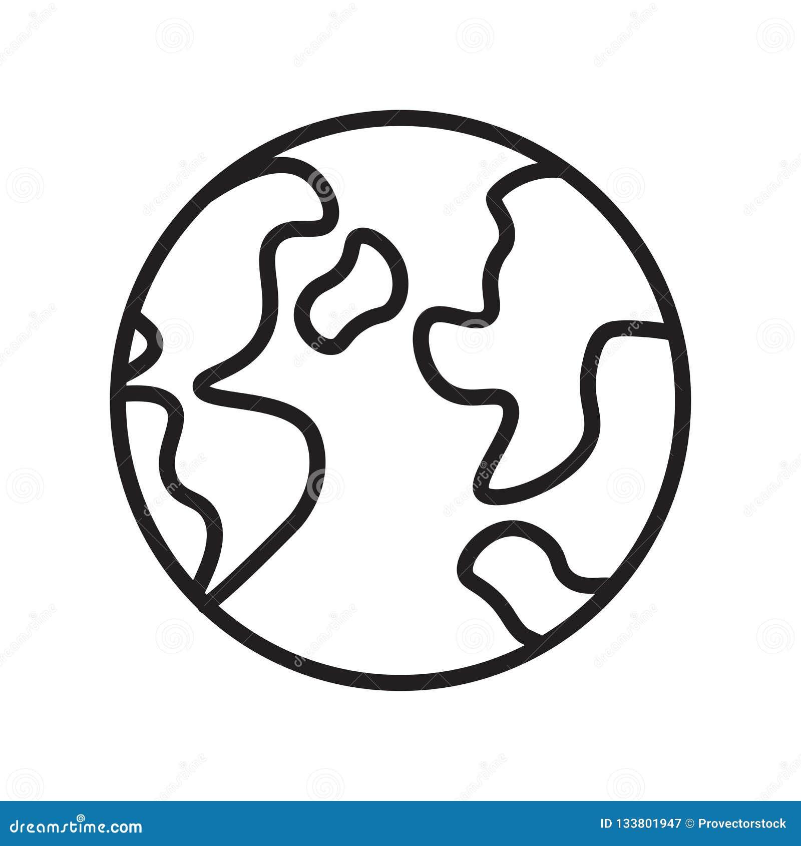 世界象在白色背景和标志隔绝的传染媒介标志