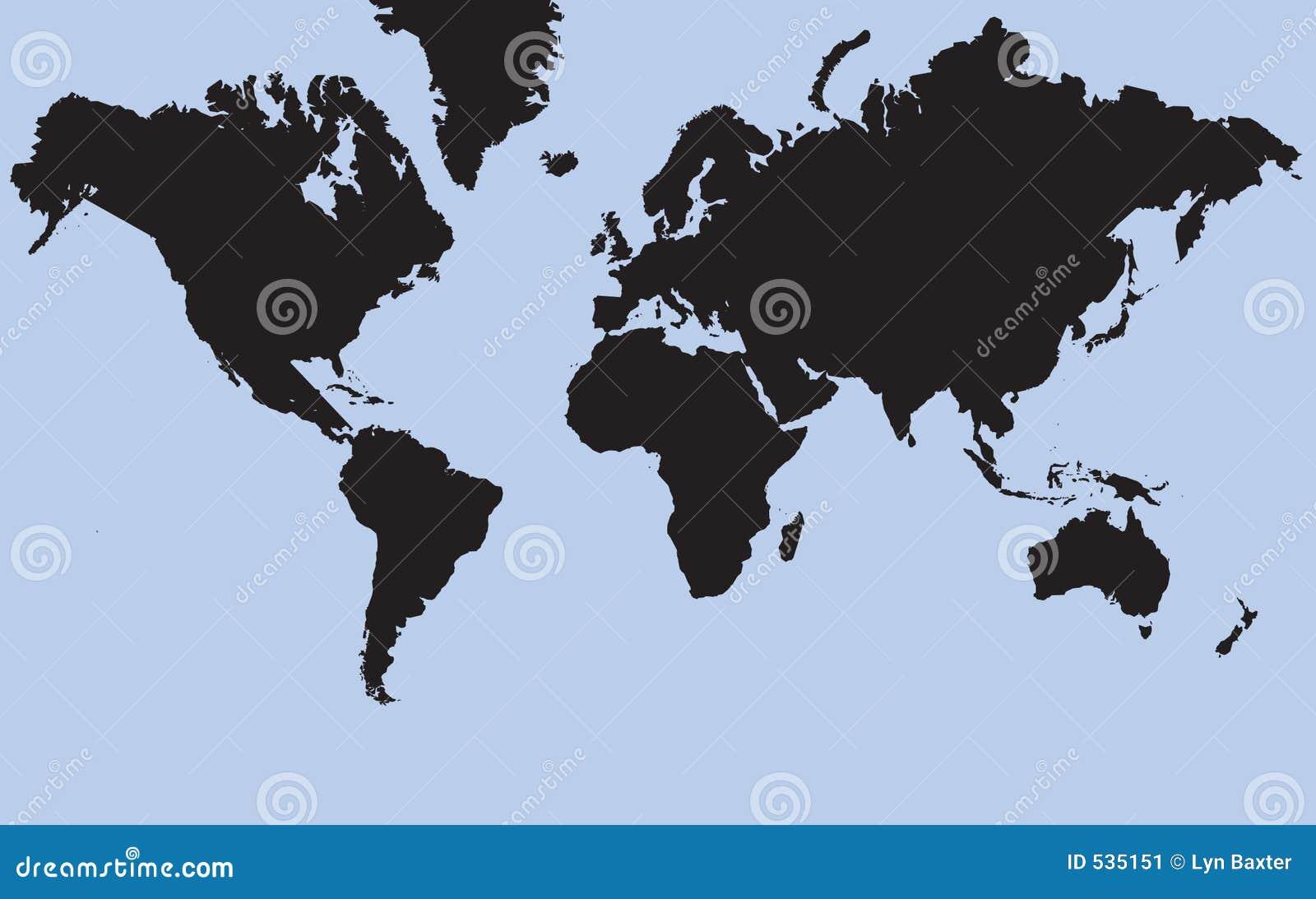 Download 世界 库存例证. 插画 包括有 投反对票, 海运, 蓝色, 大陆, 地球, 剪影, 地产, 行星, 平面, 晒裂 - 535151