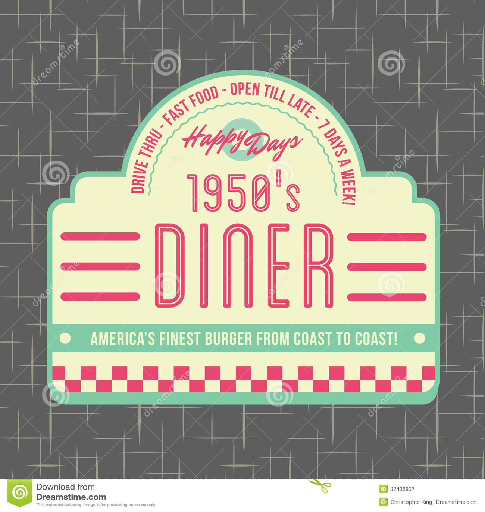20世纪50年代吃饭的客人样式商标设计