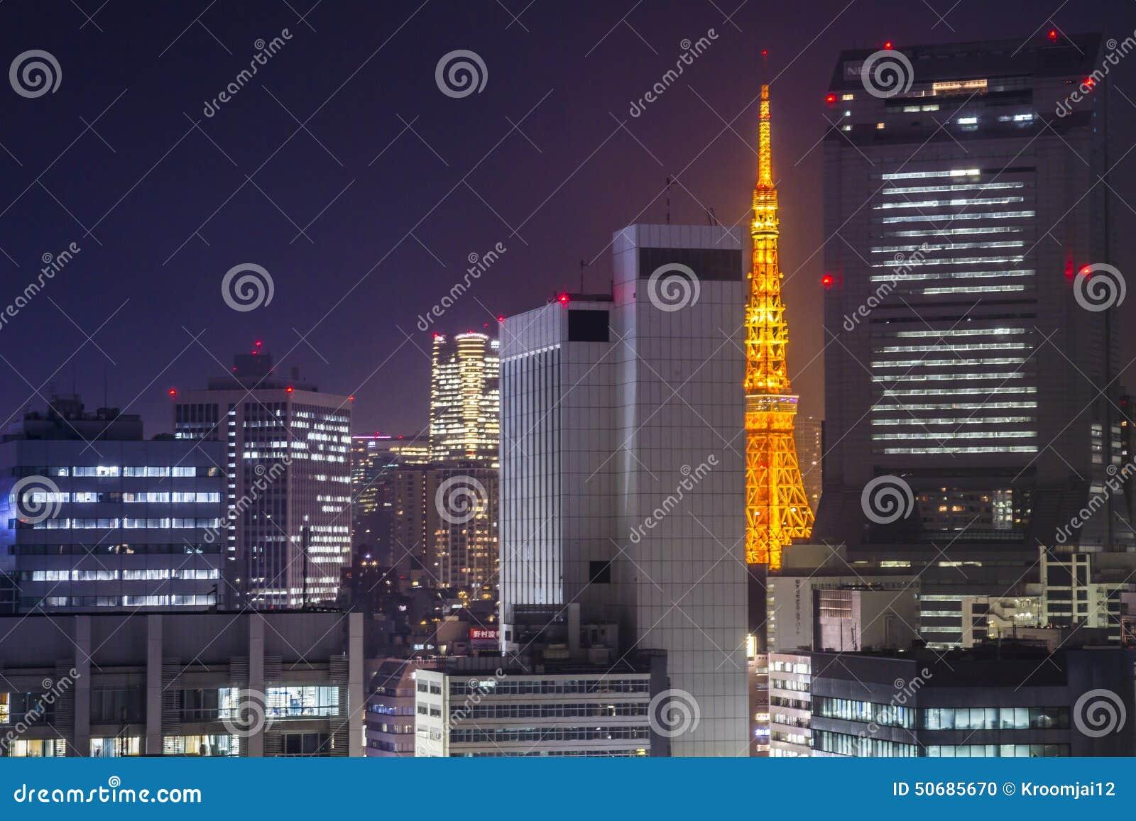 Download 东京塔在市东京,日本 编辑类图片. 图片 包括有 日本, 通风, 摩天大楼, 场面, 地平线, 街道, 夜间 - 50685670