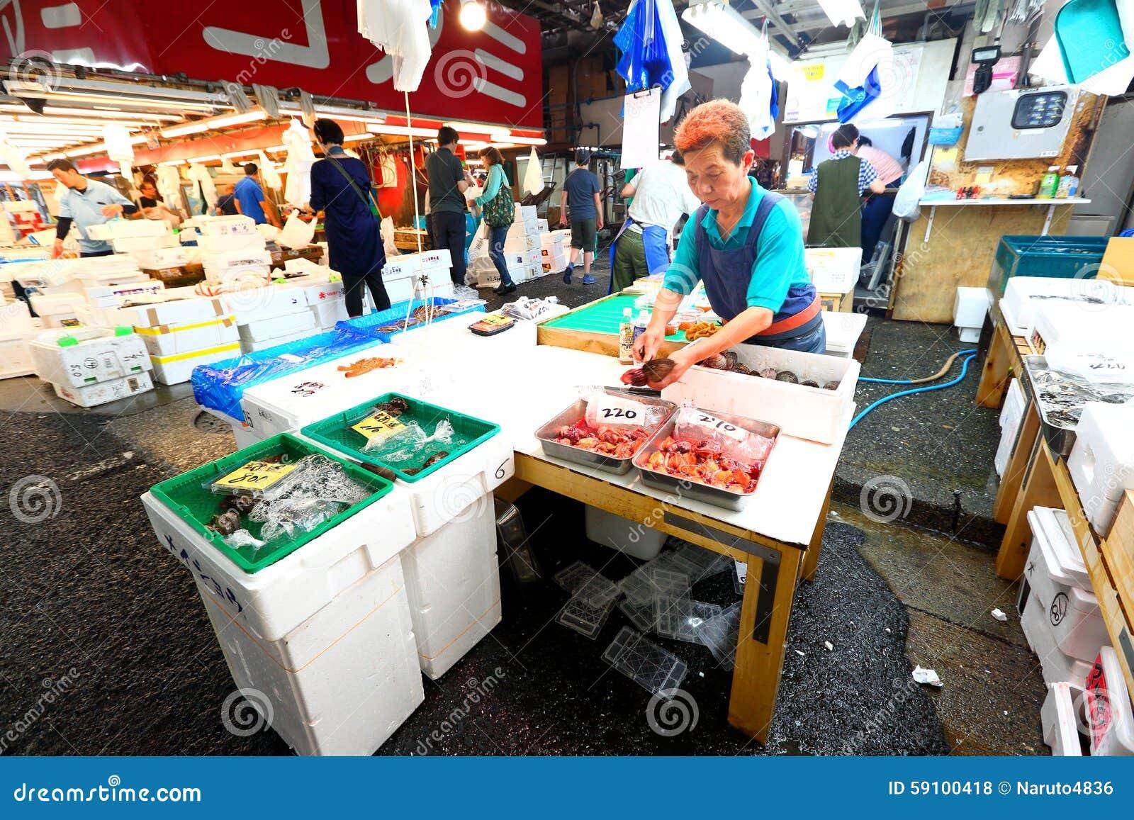 东京:Tsukiji海鲜鱼市